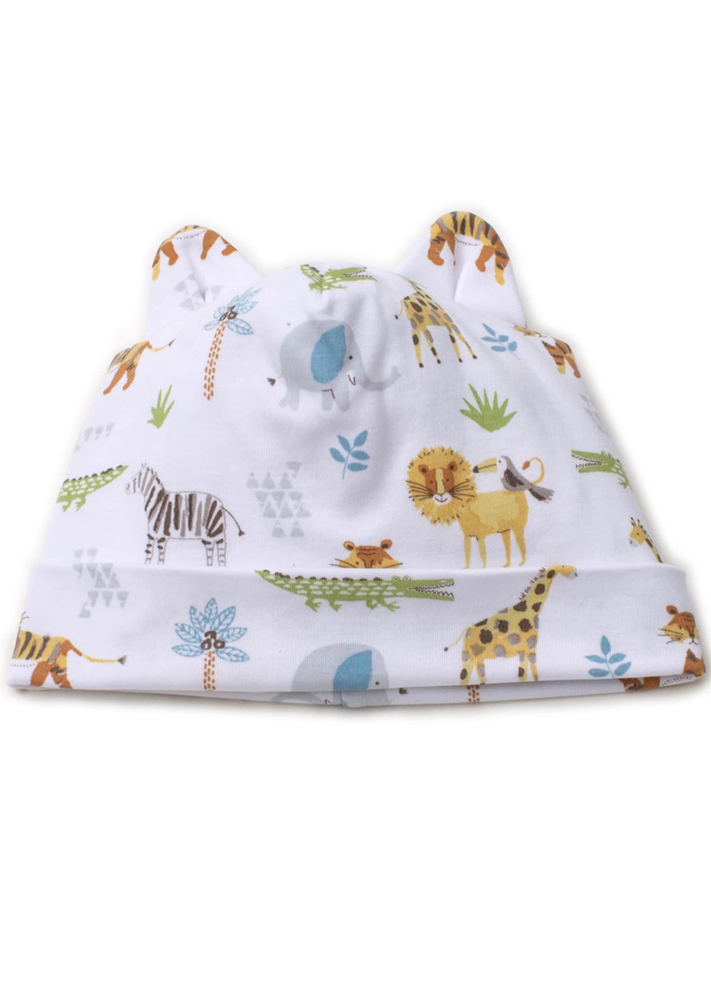 Kissy Kissy Boys' Jungle Junket Hat, Newborn -