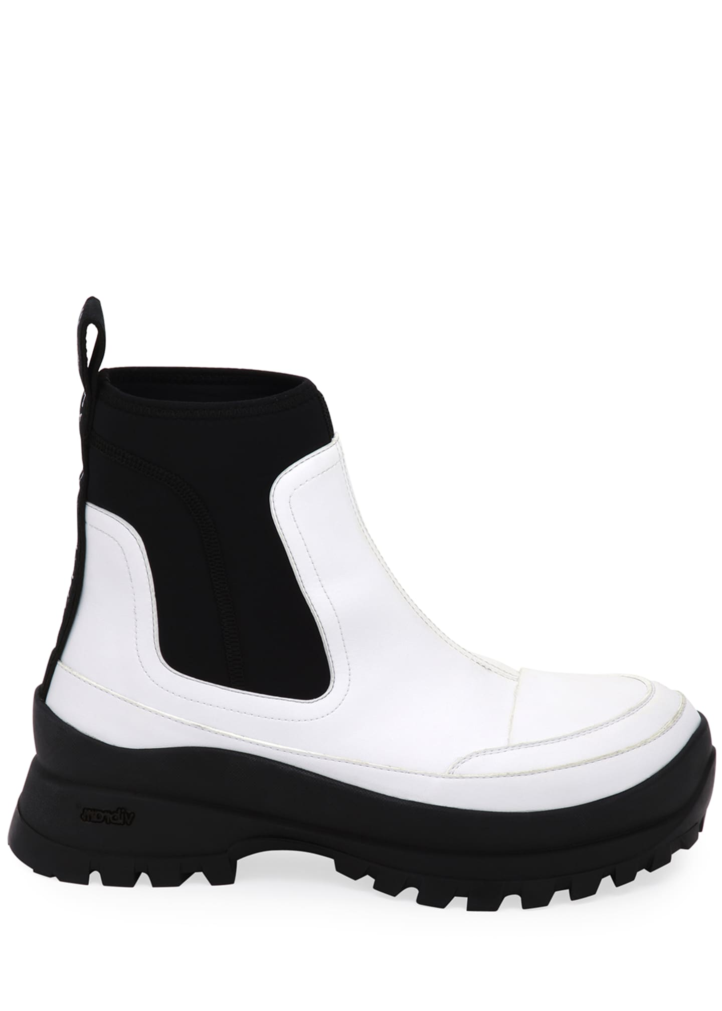 Image 2 of 3: Two-Tone Lug-Sole Ankle Boots