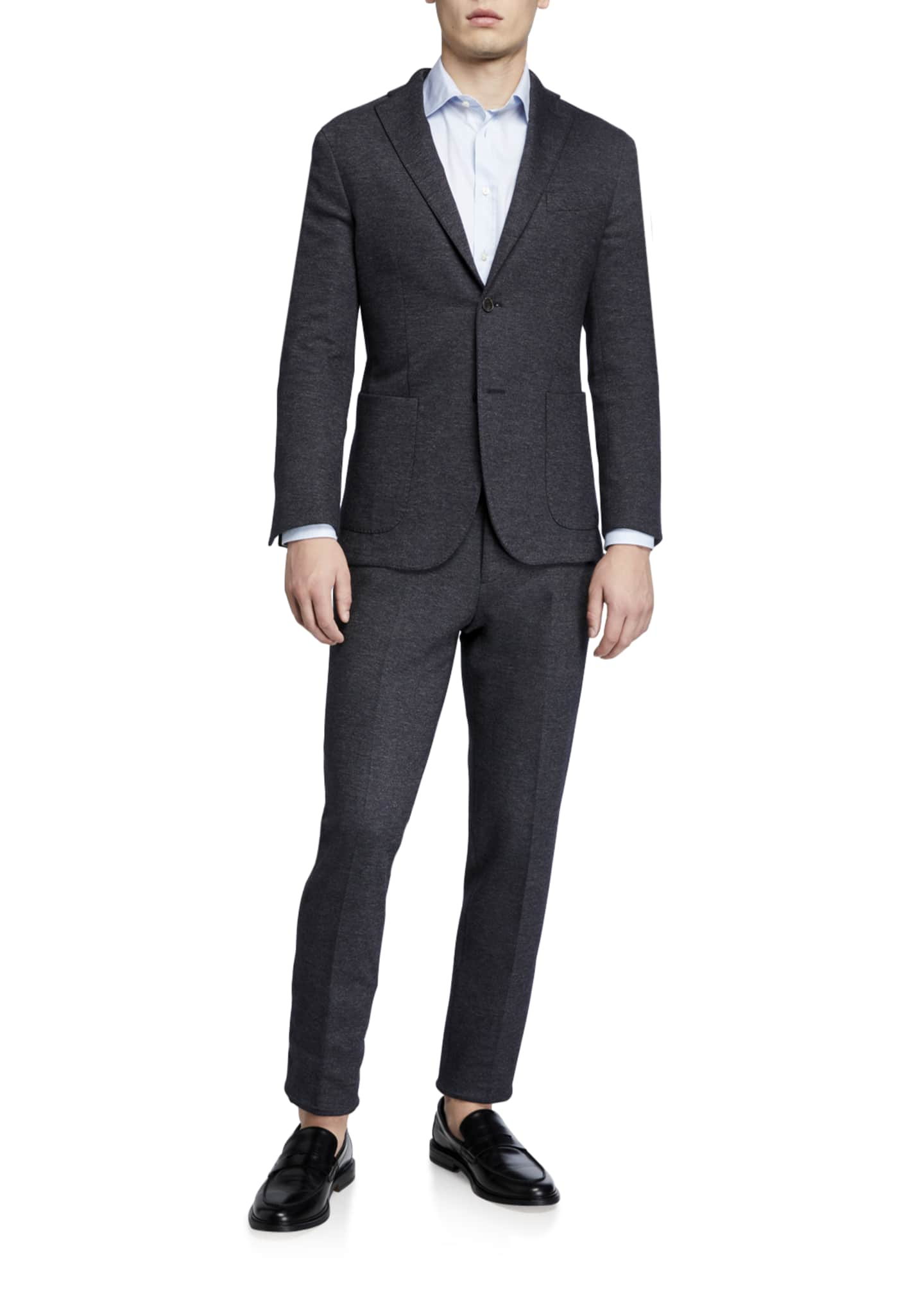 Image 2 of 4: Men's Heathered Jersey Two-Piece Suit