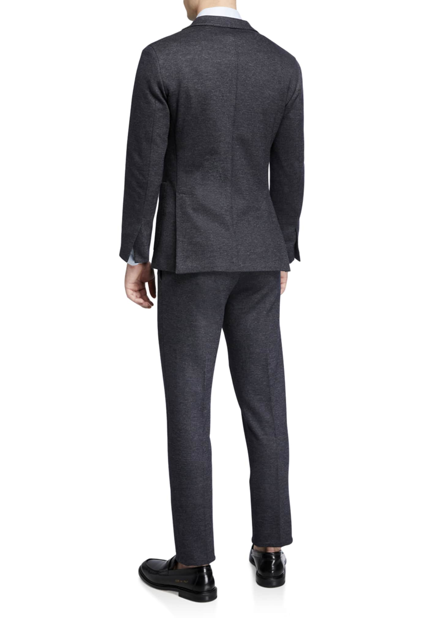 Image 3 of 4: Men's Heathered Jersey Two-Piece Suit