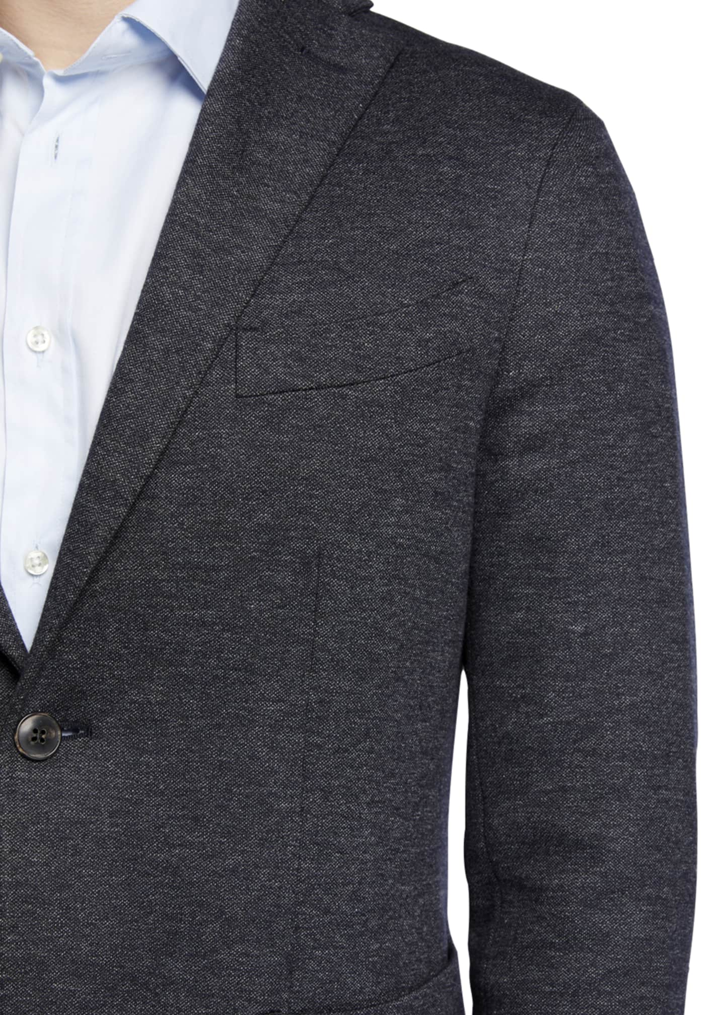 Image 4 of 4: Men's Heathered Jersey Two-Piece Suit