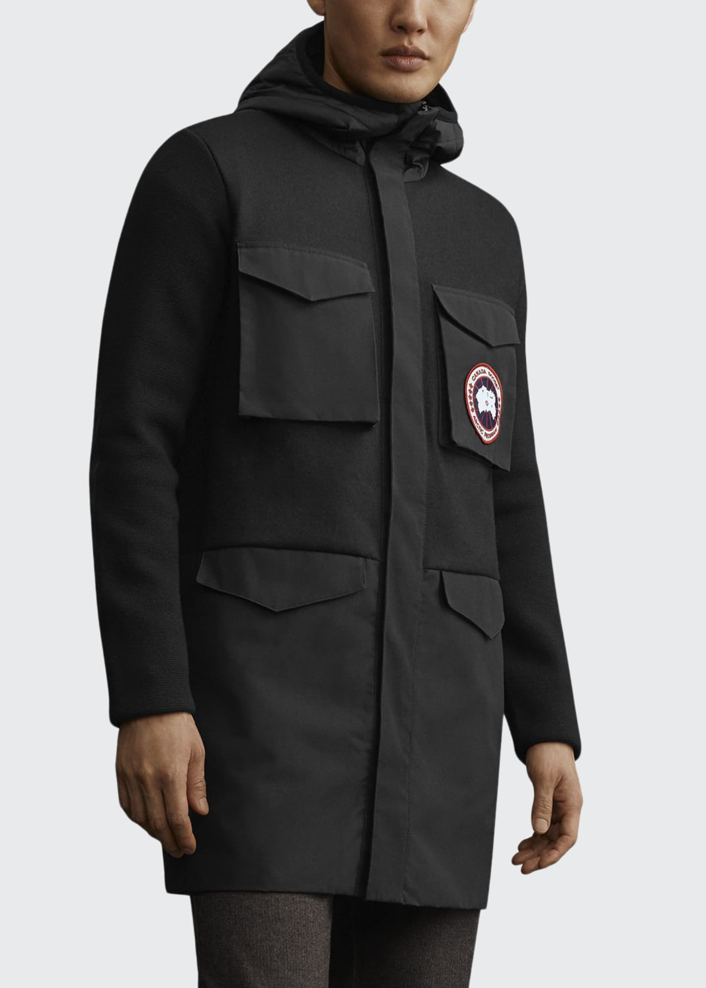 Canada Goose Men's Dunfield Hooded Knit Jacket