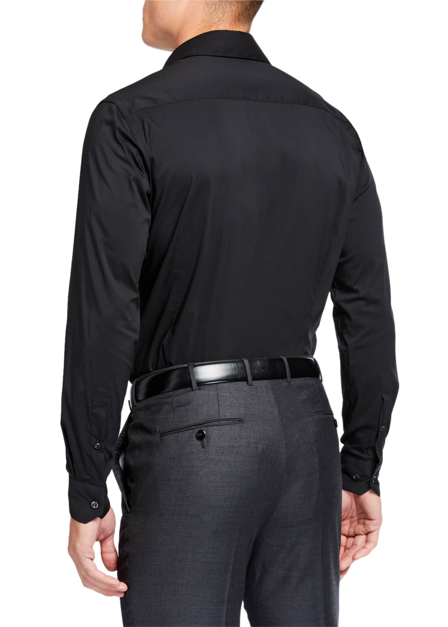 Image 2 of 2: Men's Solid Long-Sleeve Sport Shirt