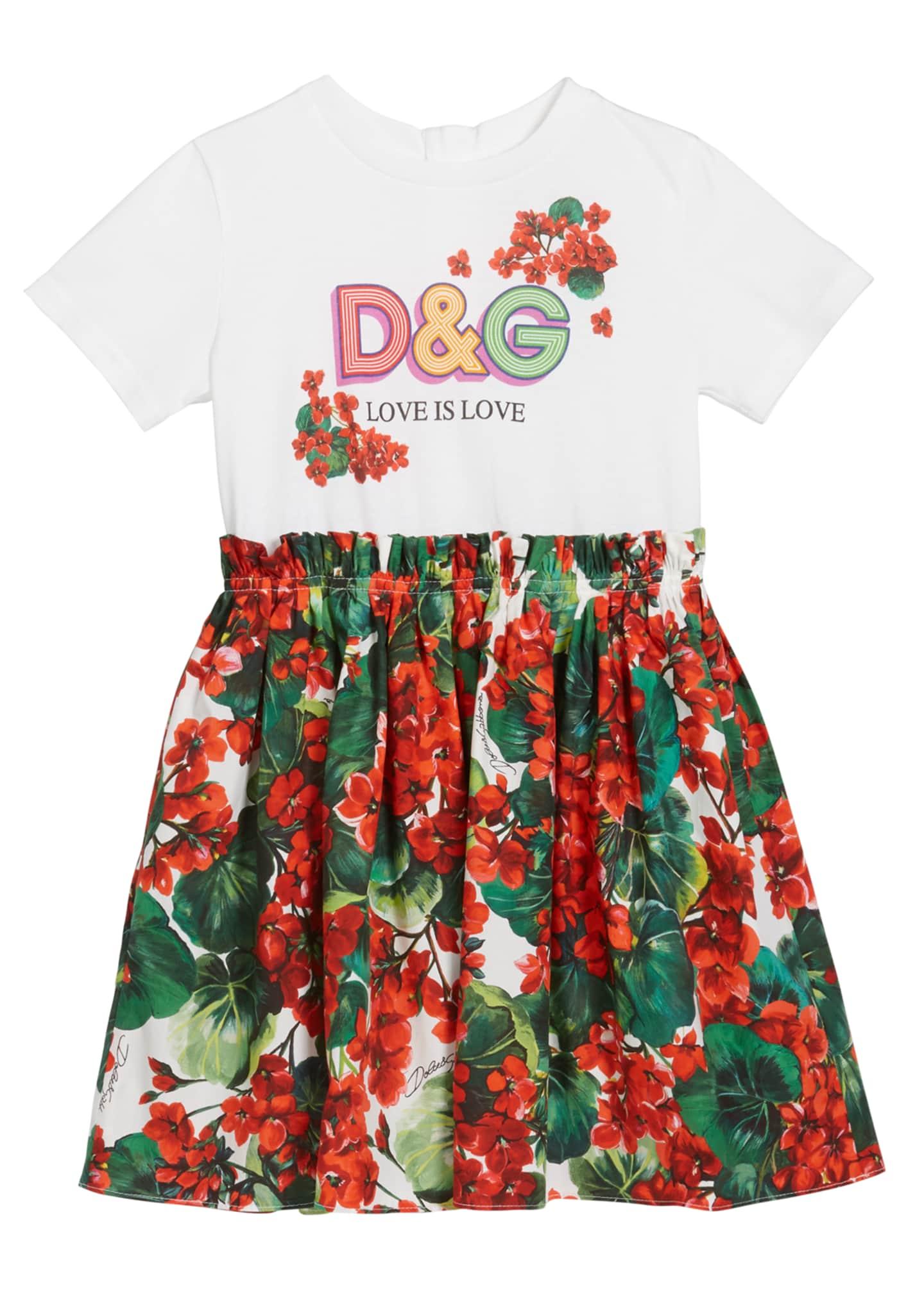 Dolce & Gabbana Girl's DG T-Shirt & Floral