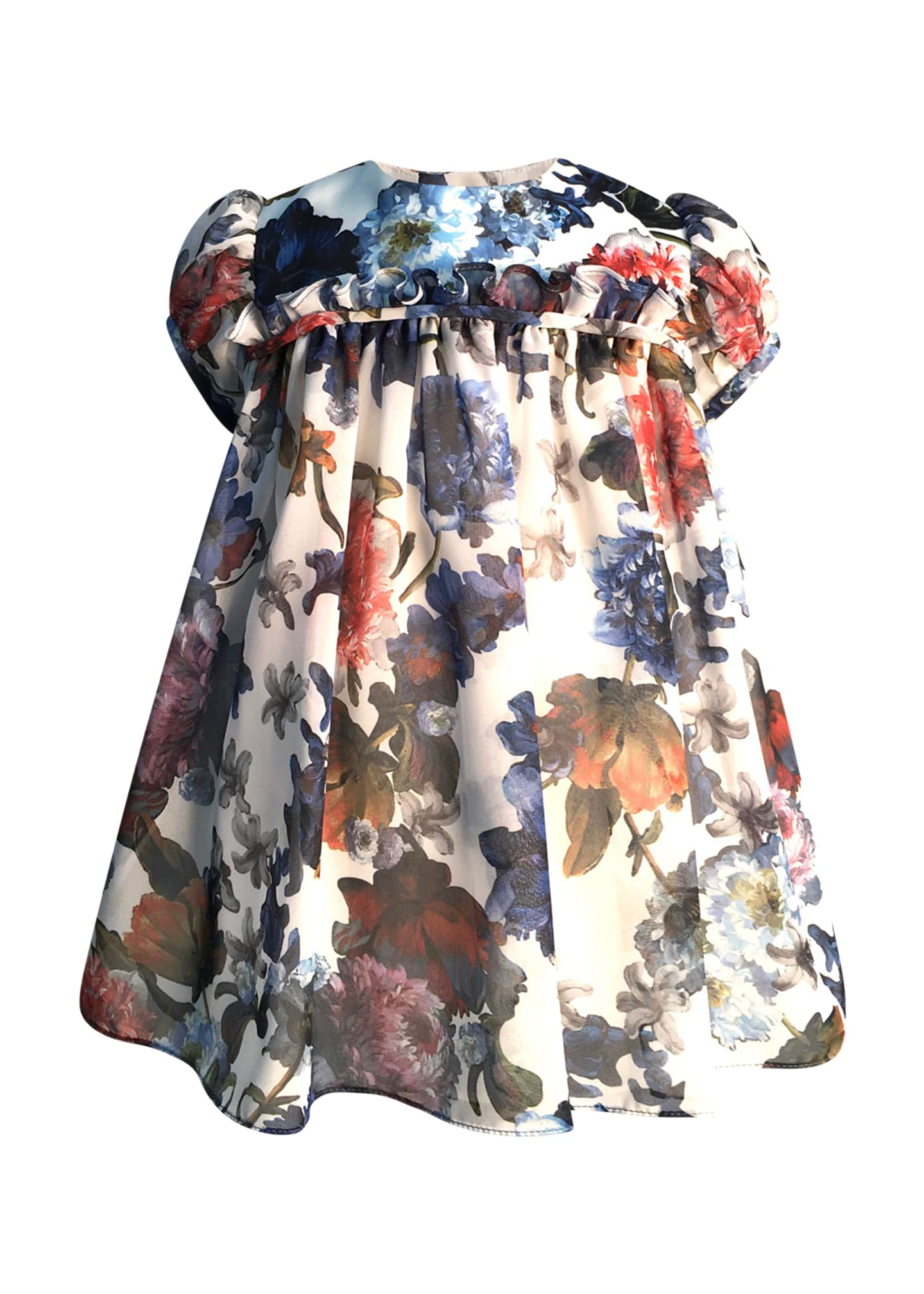 Helena Girl's Puffy Sleeve Floral Dress, Size 6-18