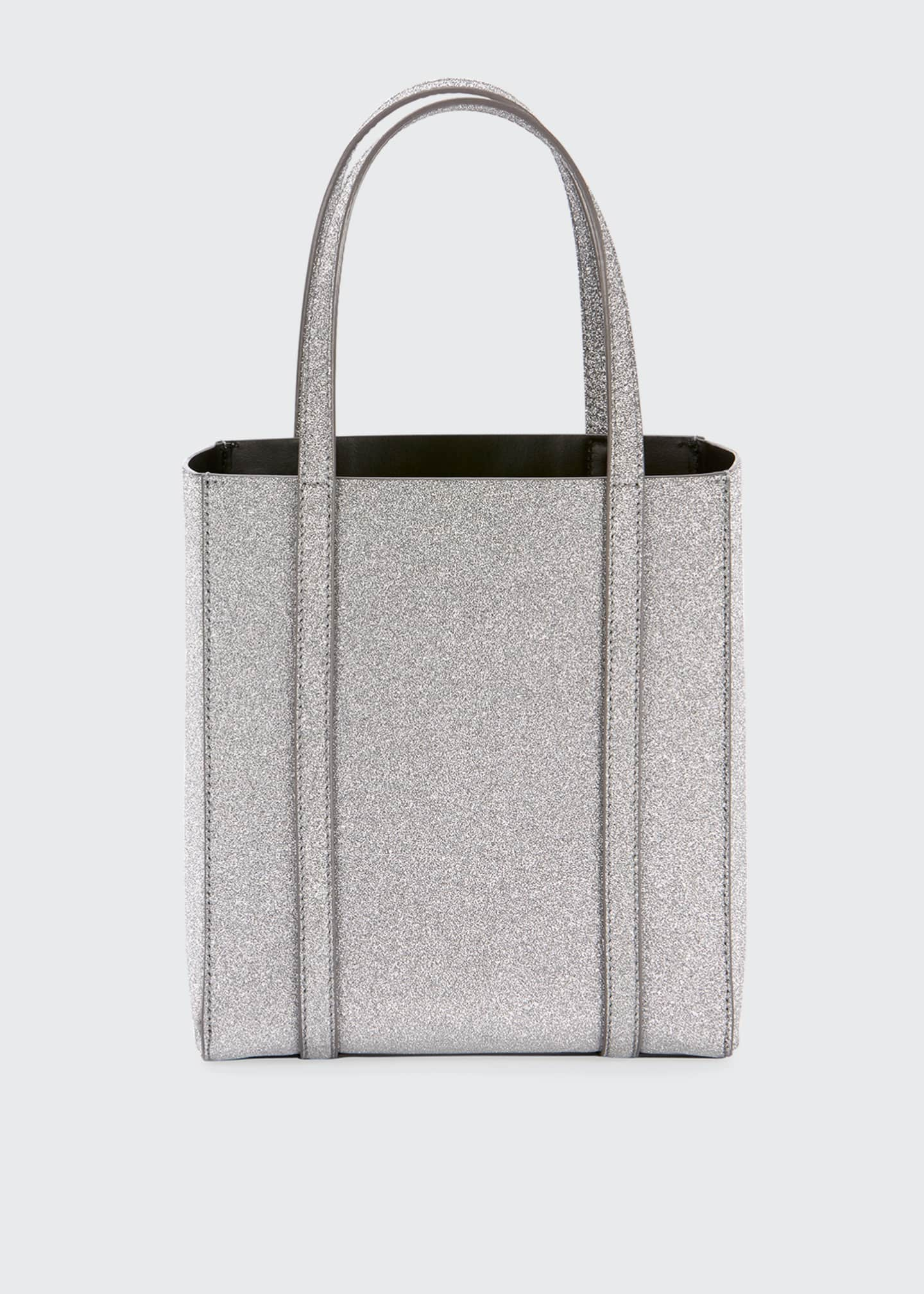 Image 2 of 3: Everyday XXS Glittered Calfskin Tote Bag