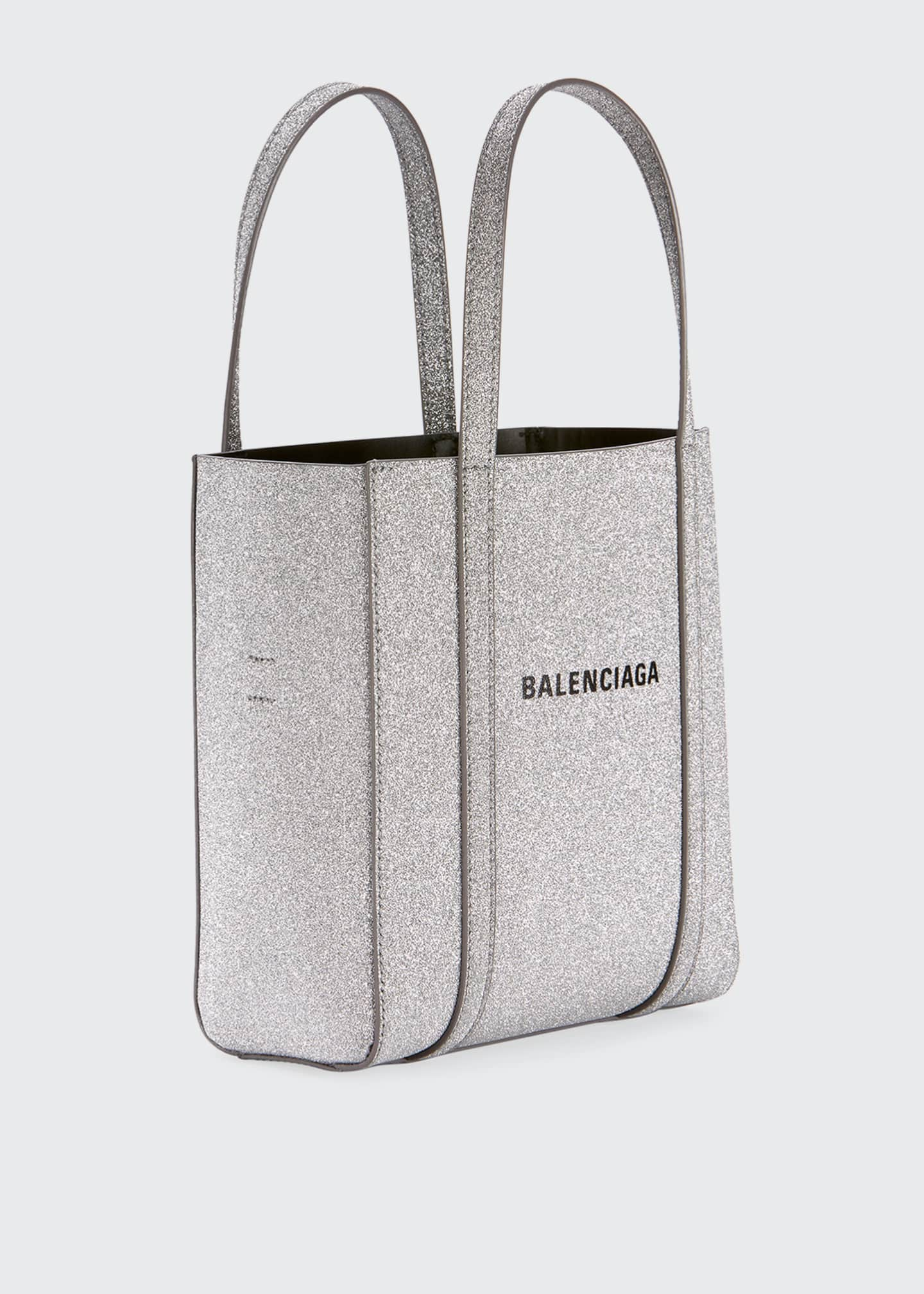 Image 3 of 3: Everyday XXS Glittered Calfskin Tote Bag
