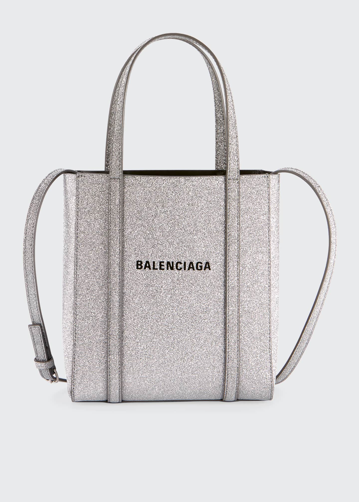 Image 1 of 3: Everyday XXS Glittered Calfskin Tote Bag
