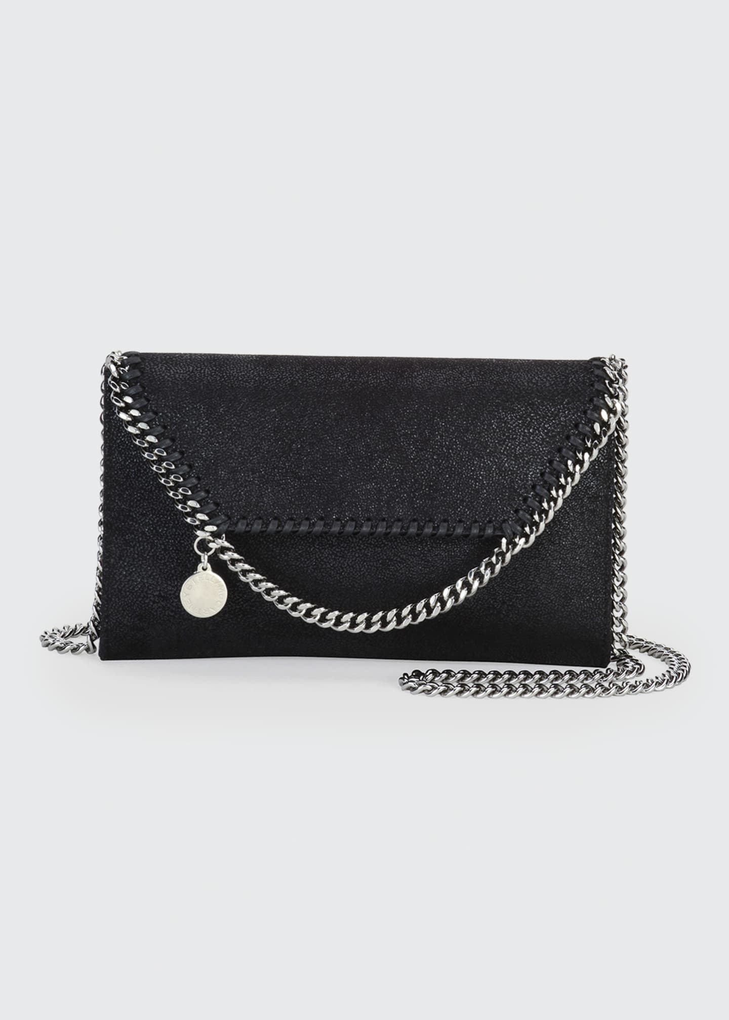 Image 1 of 5: Falabella Mini Shaggy Deer Wallet on Chain