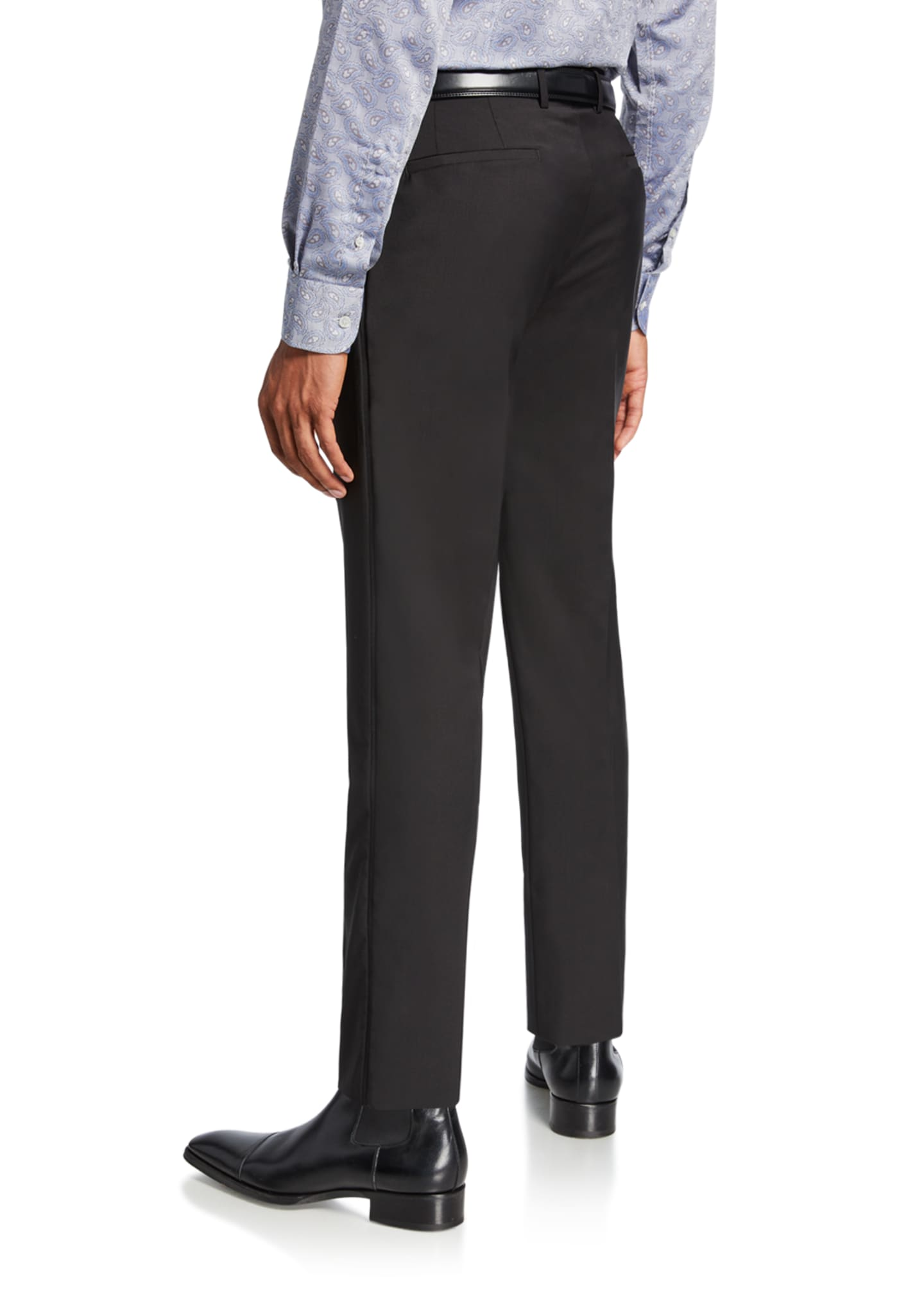 Image 2 of 3: Men's Wool Tuxedo Pants