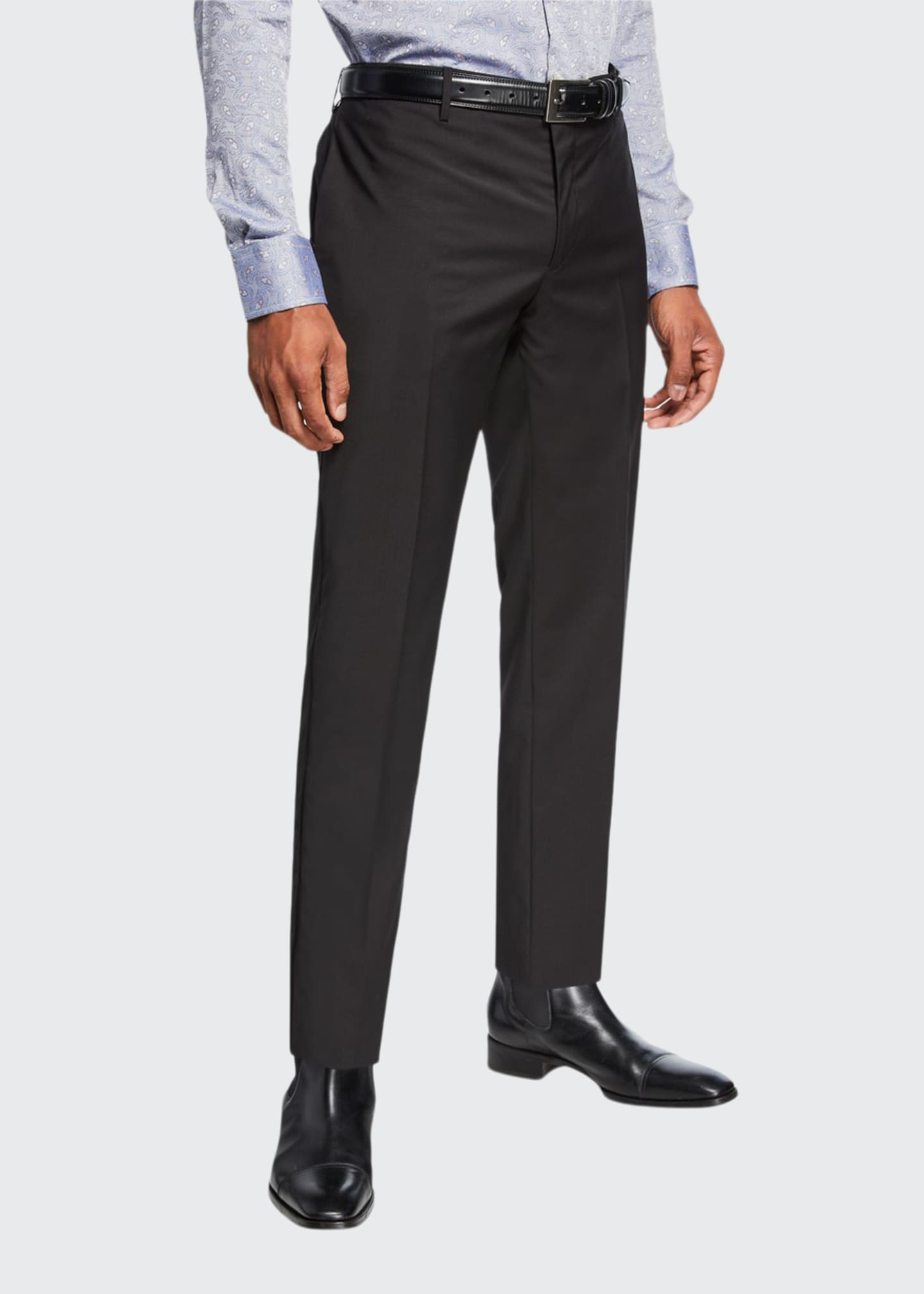 Image 1 of 3: Men's Wool Tuxedo Pants