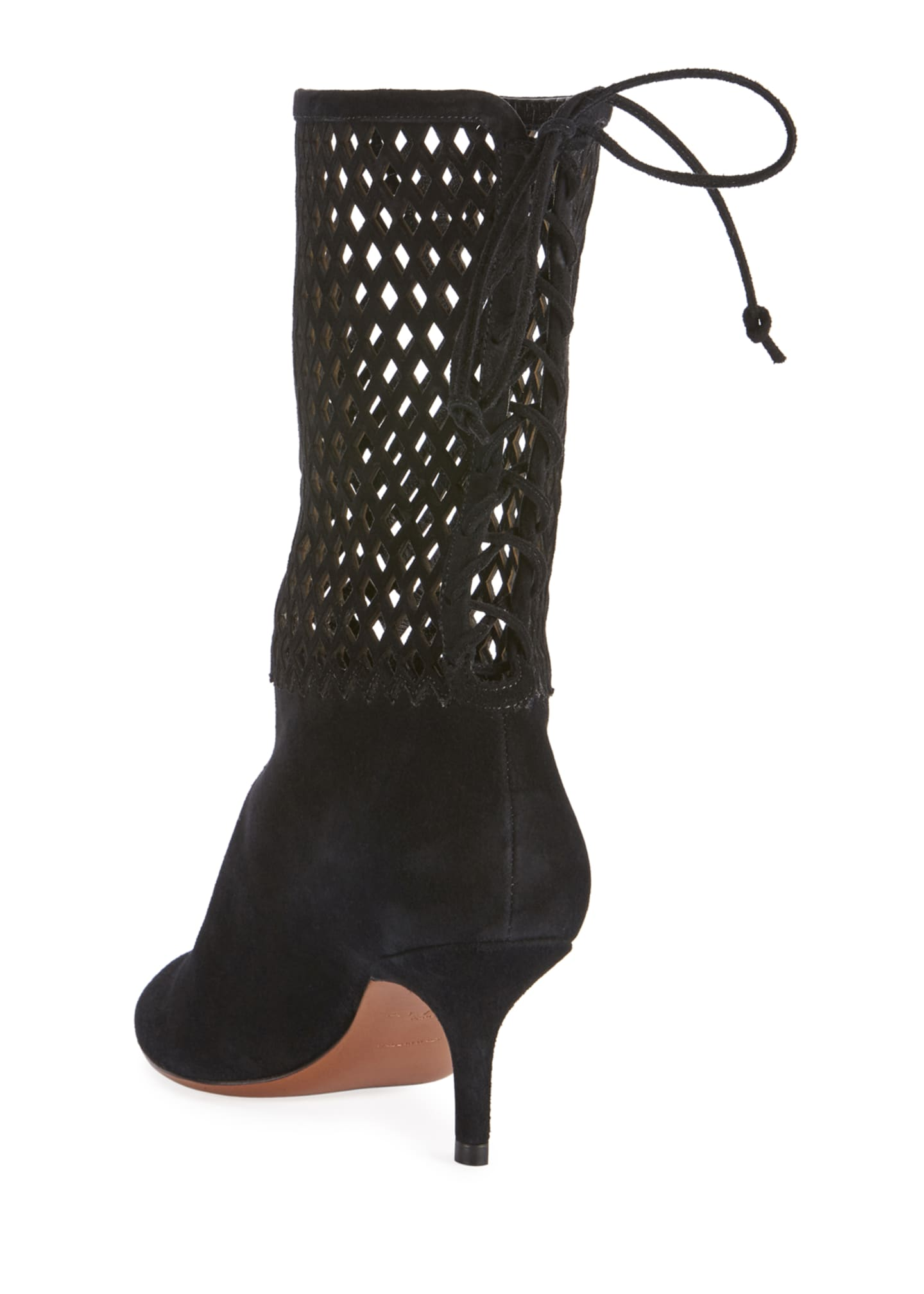 Image 3 of 4: Chamoise Laser-Cut Booties