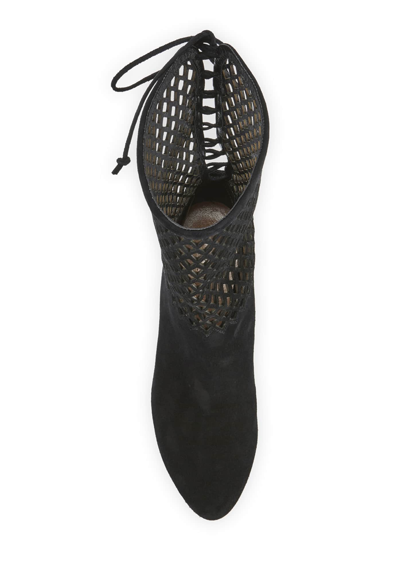 Image 4 of 4: Chamoise Laser-Cut Booties