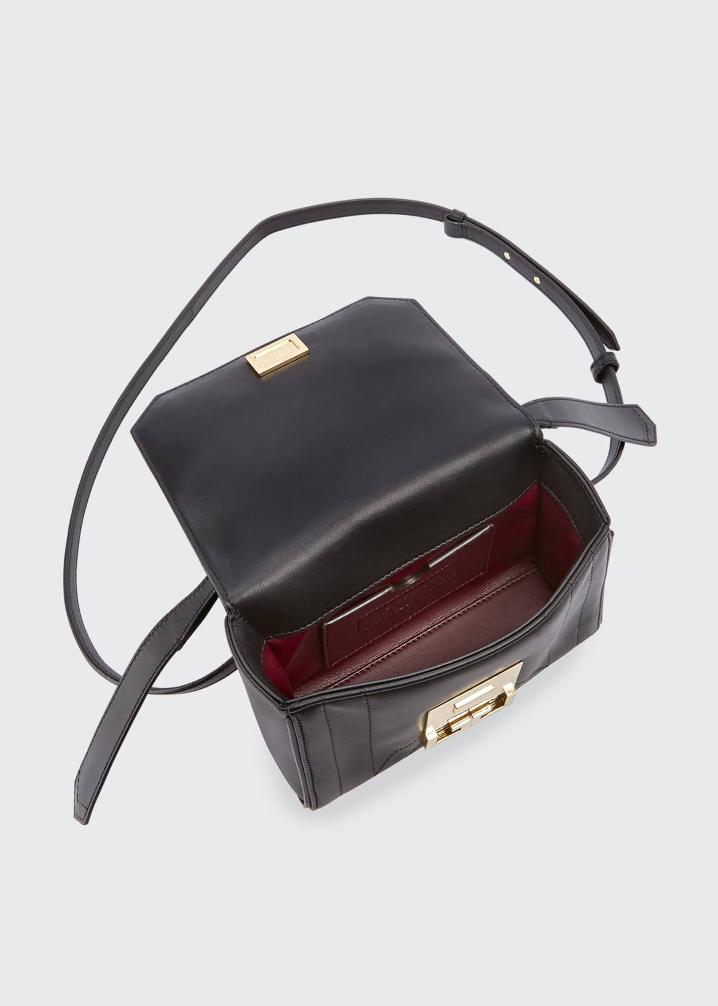 Image 2 of 3: Eden Mini Smooth Leather Crossbody Bag