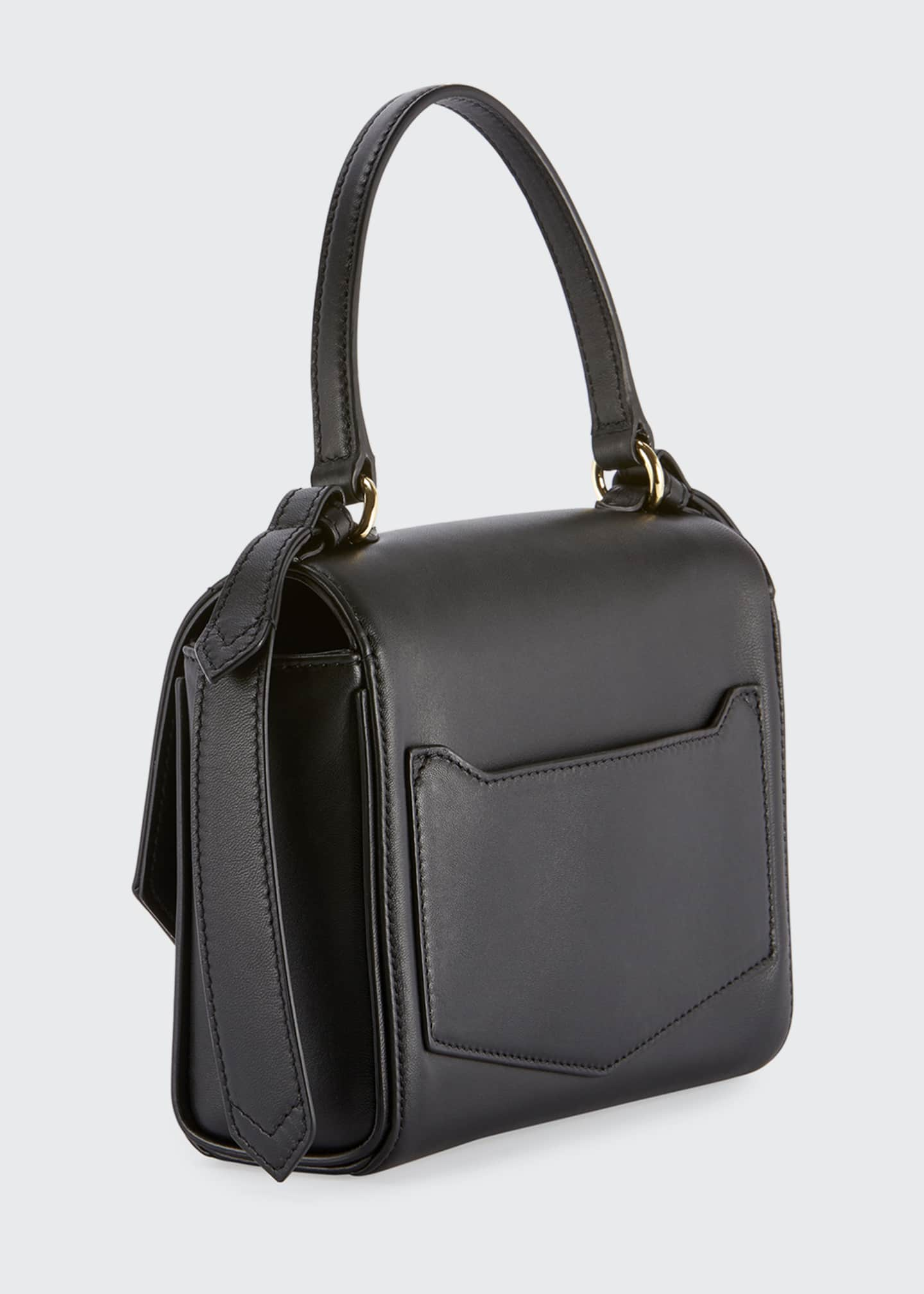 Image 3 of 3: Eden Mini Smooth Leather Crossbody Bag