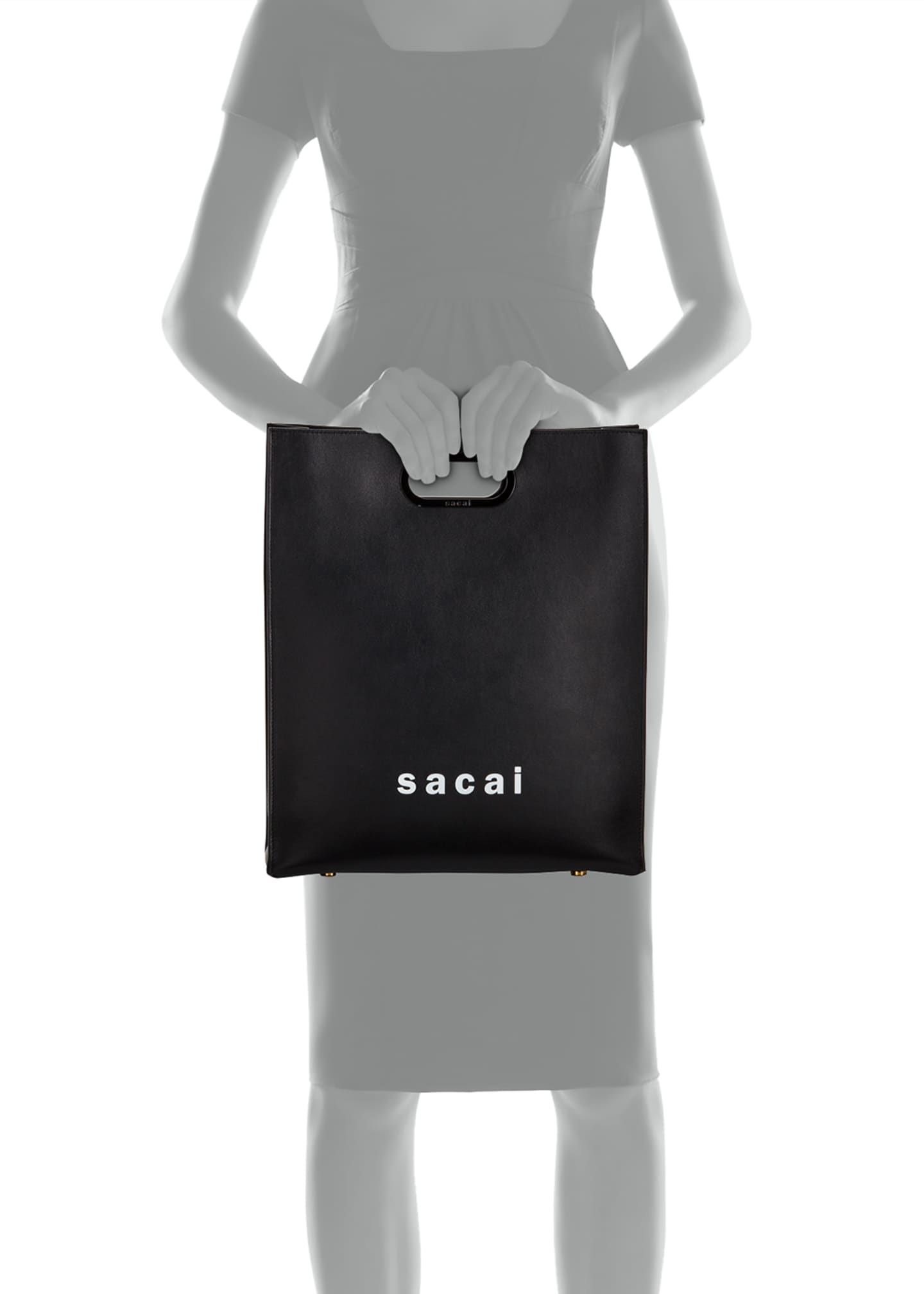 Image 3 of 3: Shopper Medium Smooth Top Handle Bag
