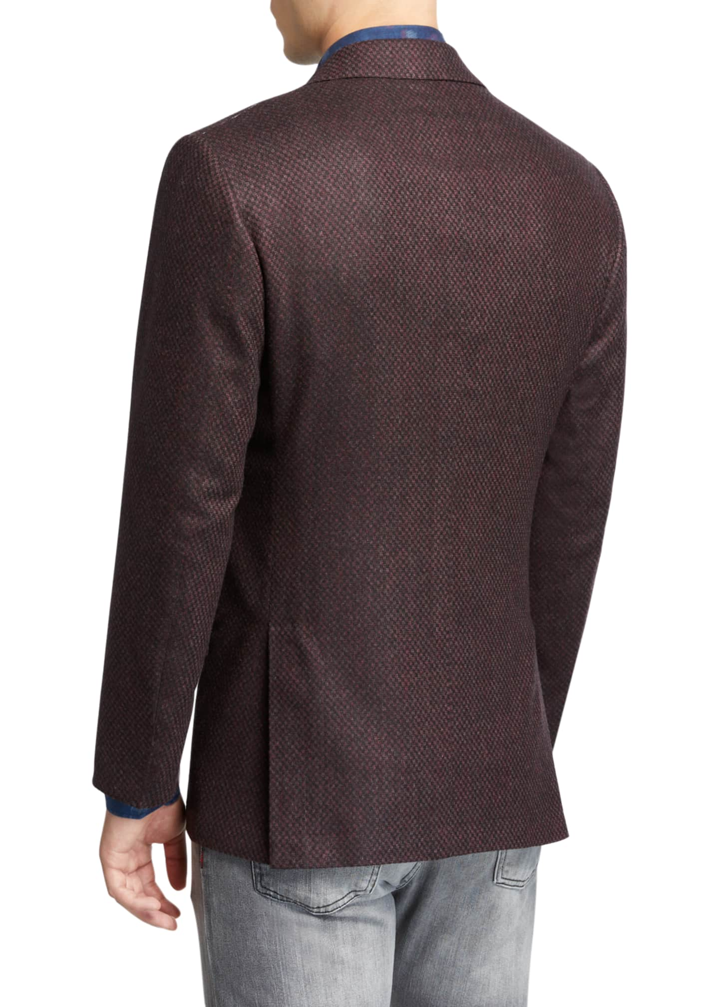 Image 2 of 3: Men's Tic-Pattern Two-Button Jacket