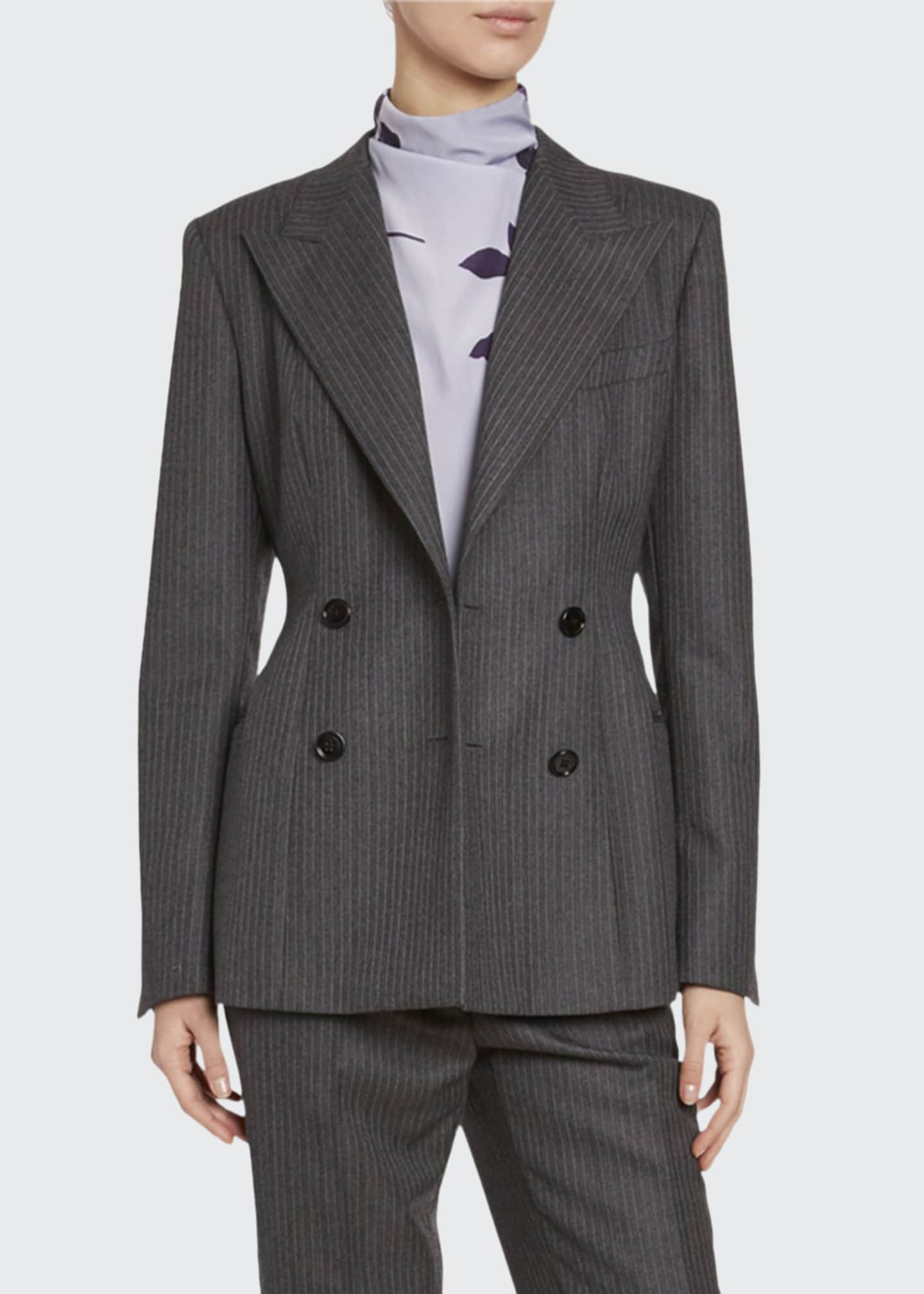 Dries Van Noten Pinstriped Wool Blazer