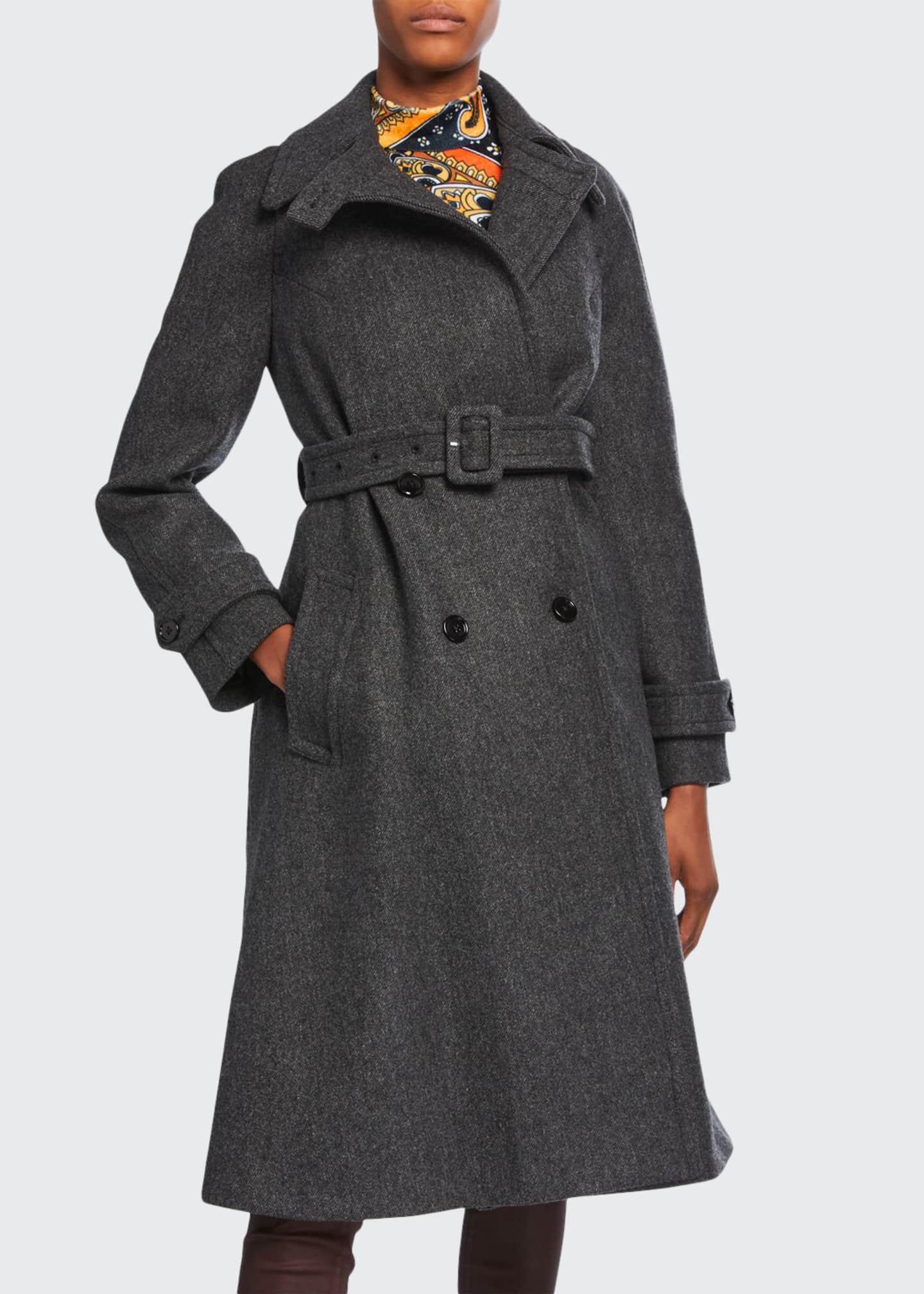 Dries Van Noten Wool Trench Coat