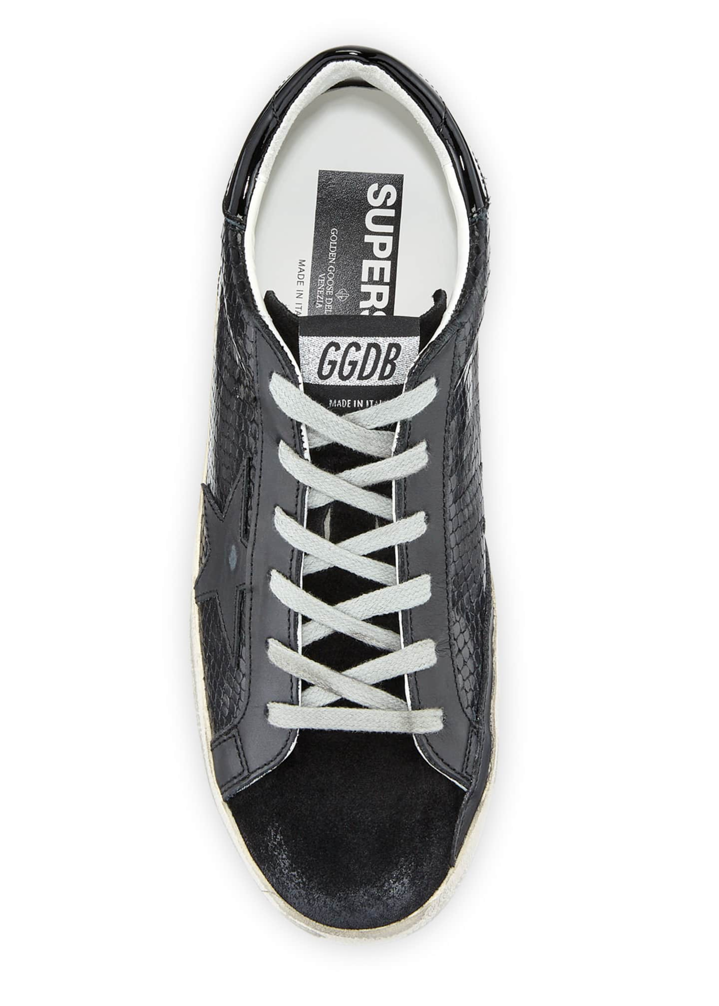 Image 3 of 3: Superstar Tonal Leather Sneakers