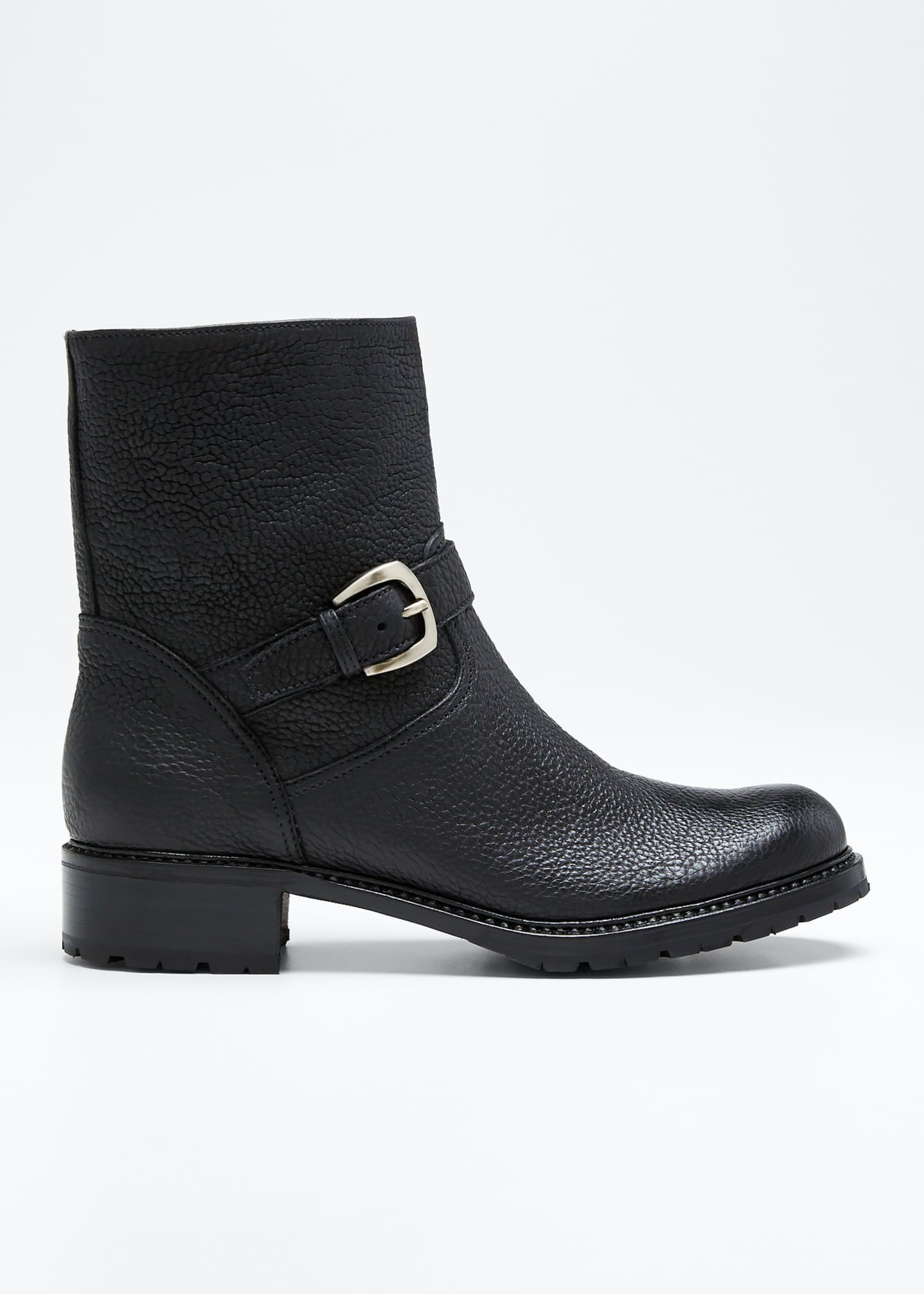 Gravati Leather Buckle Moto Booties