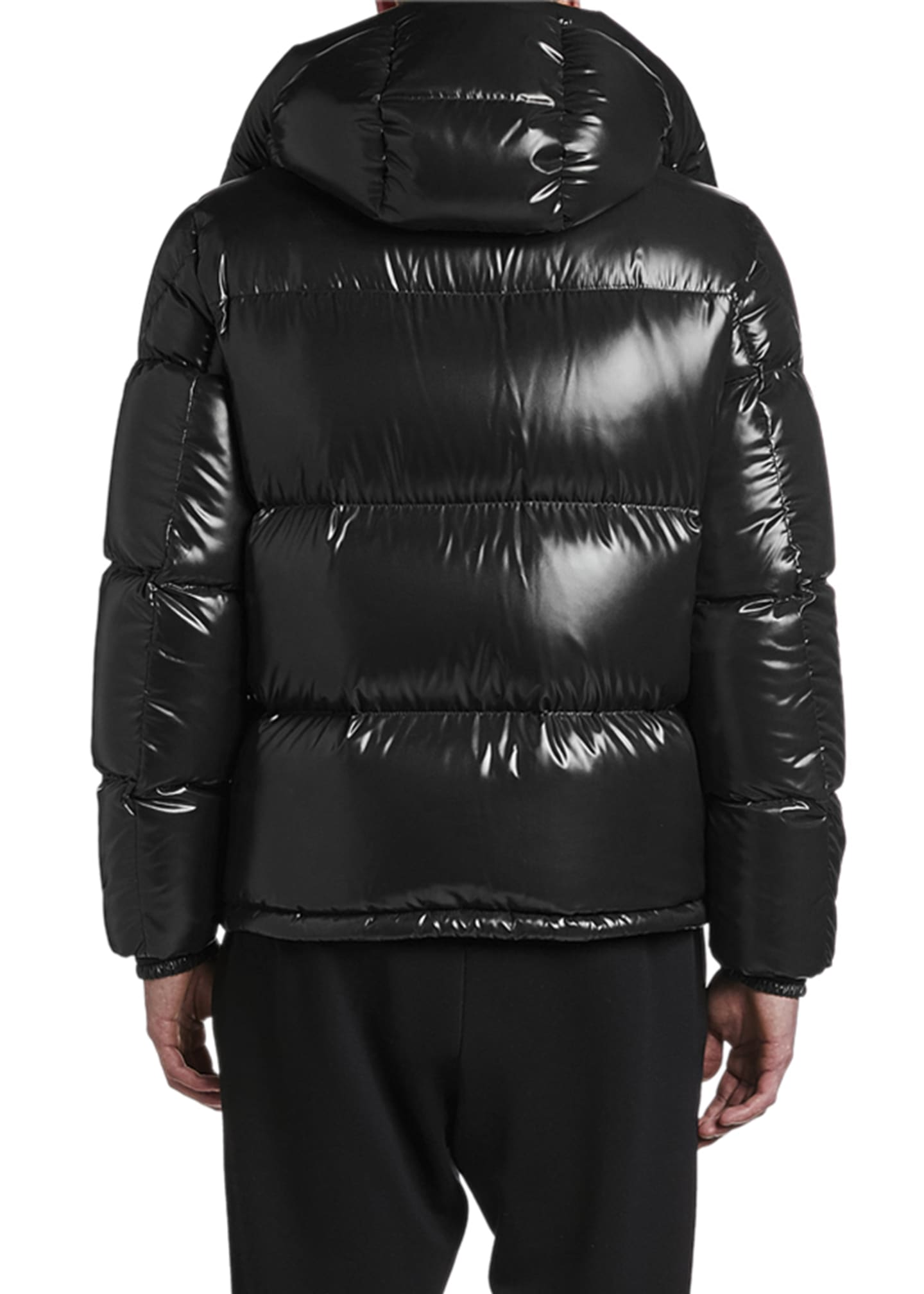 Image 2 of 3: Men's Montebeliard Double-Zip Hooded Puffer Parka Coat