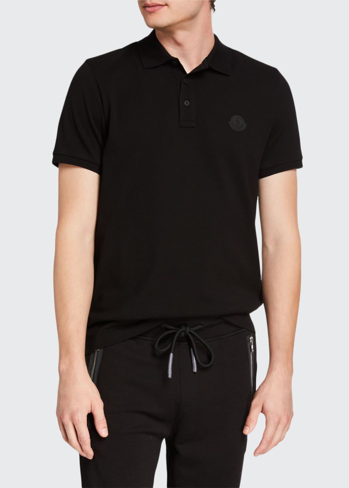 Moncler Men's Matte Patch Polo Shirt