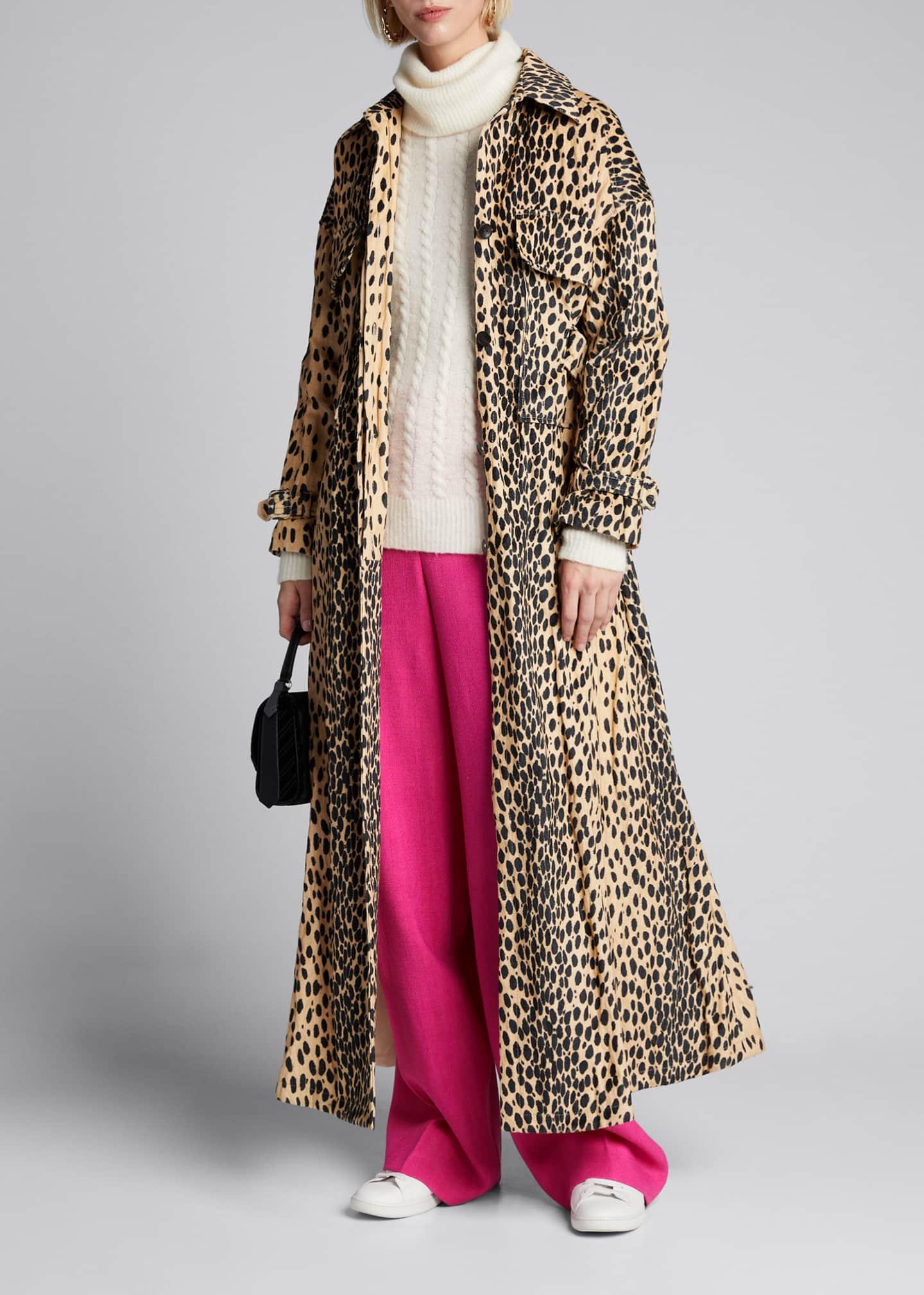 Jacquemus Animal-Print Trench Coat