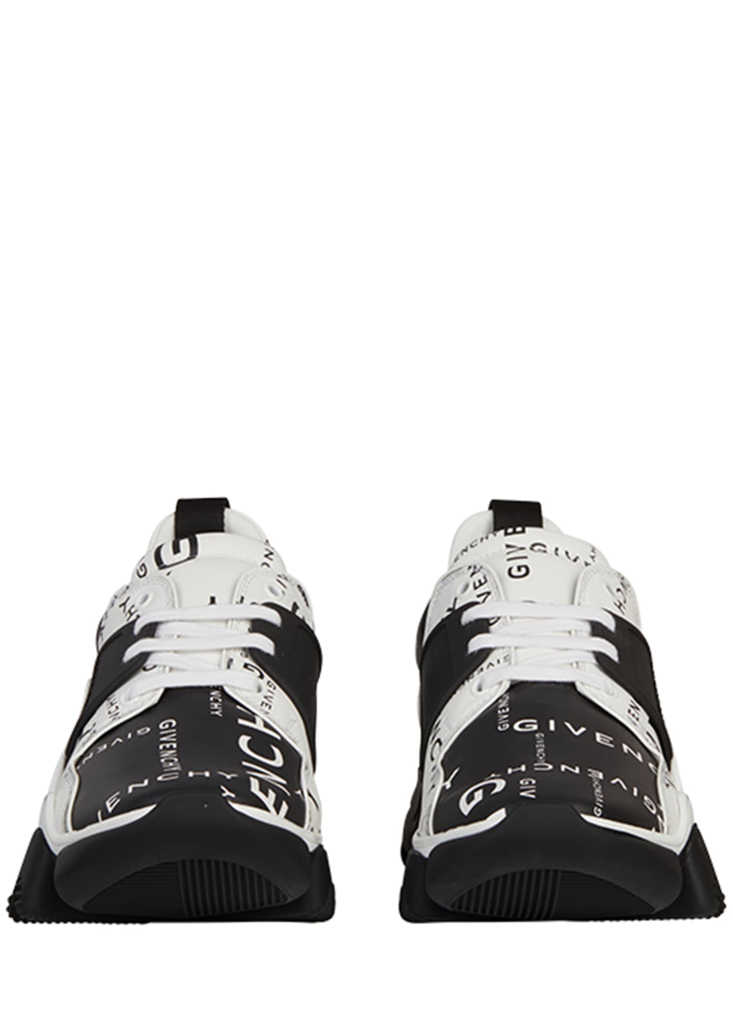 Image 2 of 2: Men's Jaw Logo-Print Two-Tone Leather Sneakers