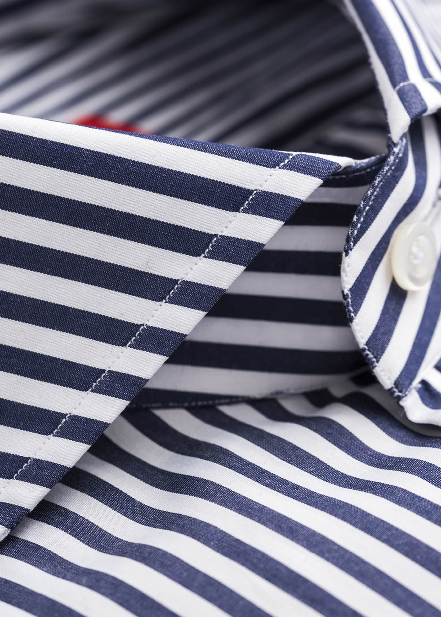 Image 2 of 2: Men's Bengal-Striped Dress Shirt