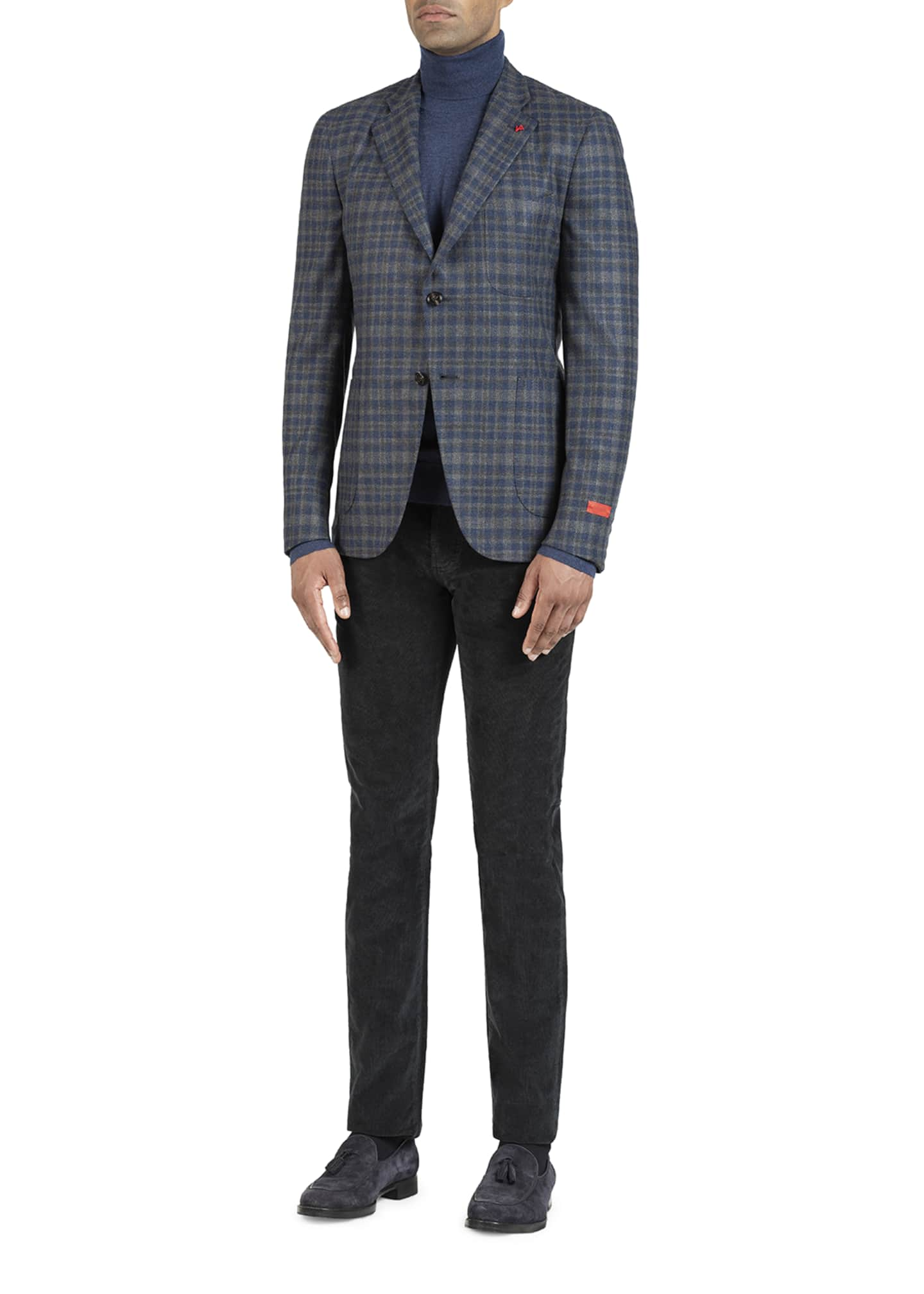 Image 2 of 5: Men's Wool-Blend Check Sport Jacket