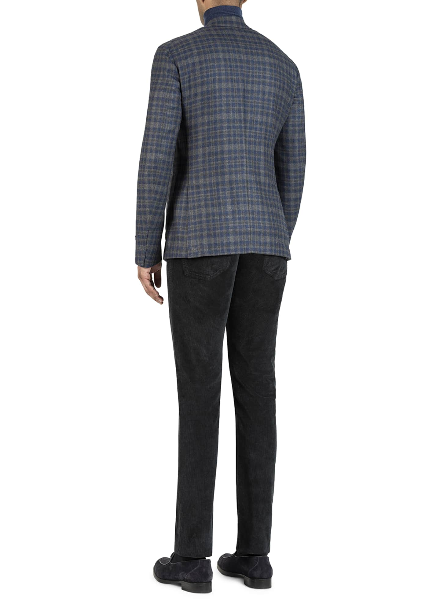 Image 3 of 5: Men's Wool-Blend Check Sport Jacket