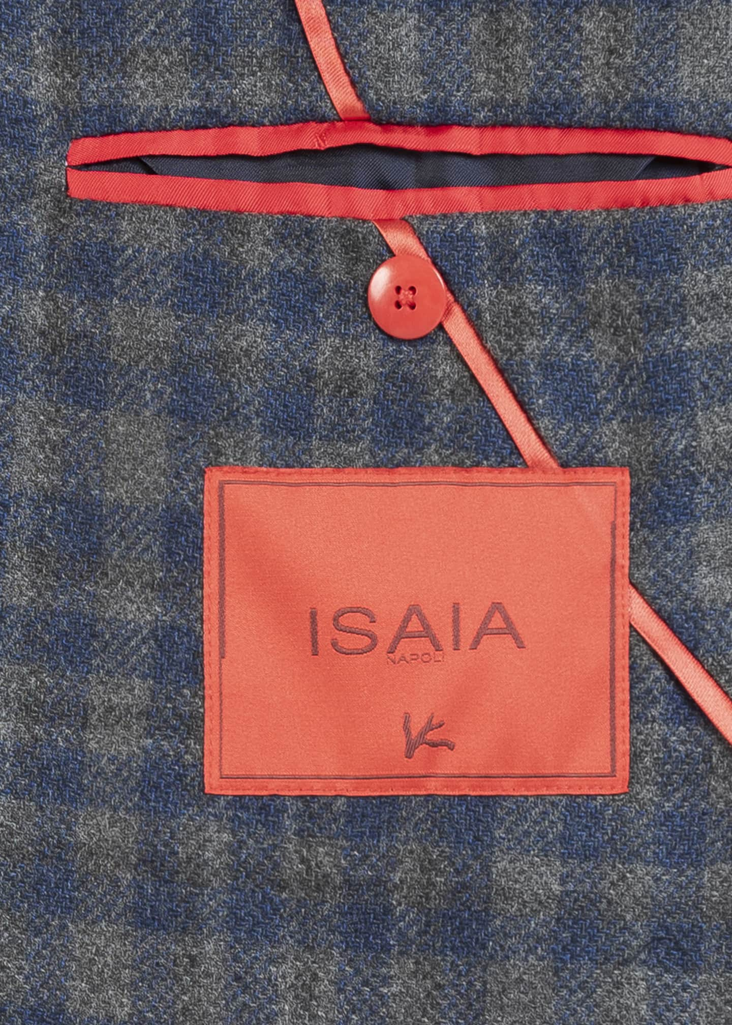Image 4 of 5: Men's Wool-Blend Check Sport Jacket