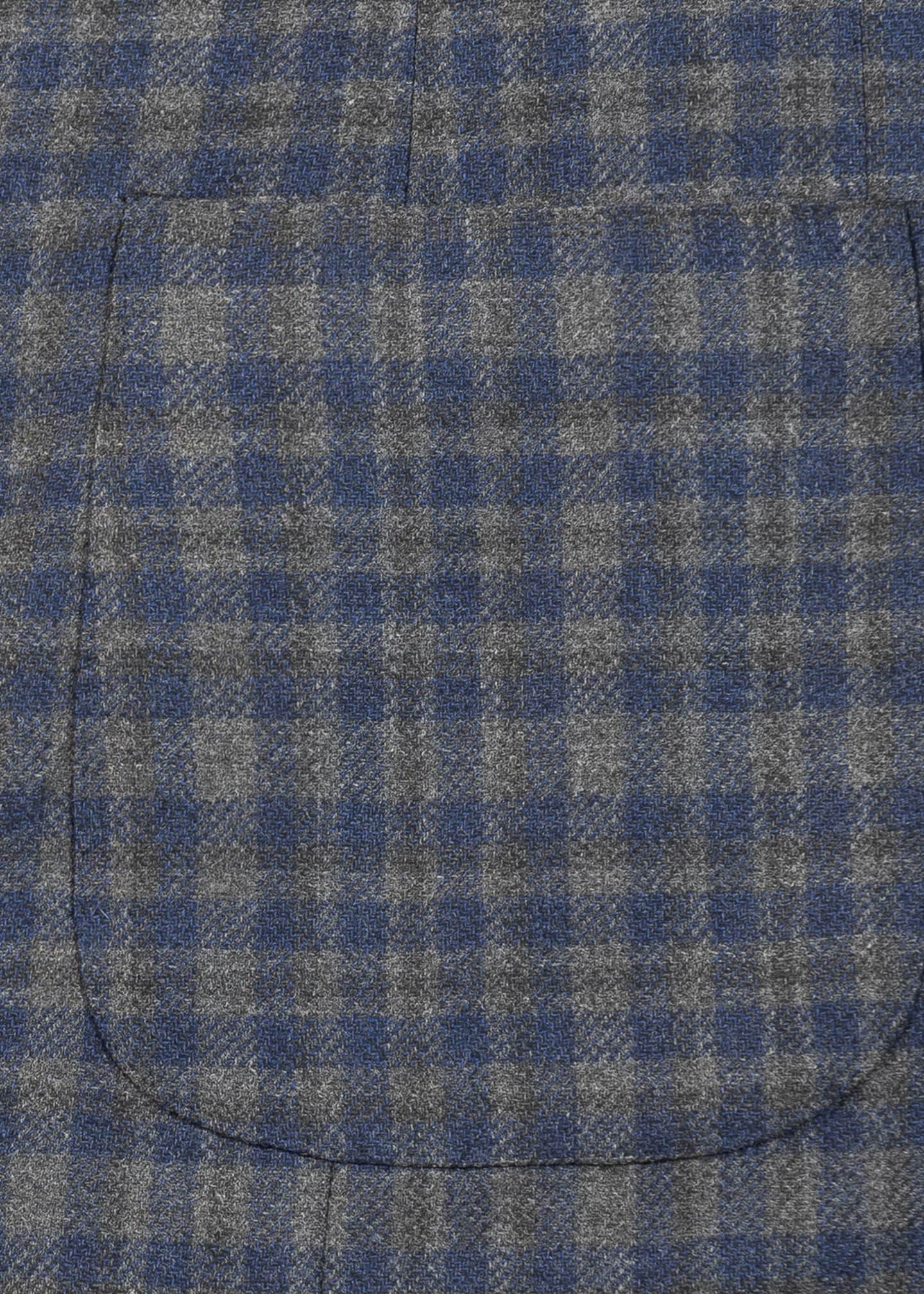 Image 5 of 5: Men's Wool-Blend Check Sport Jacket