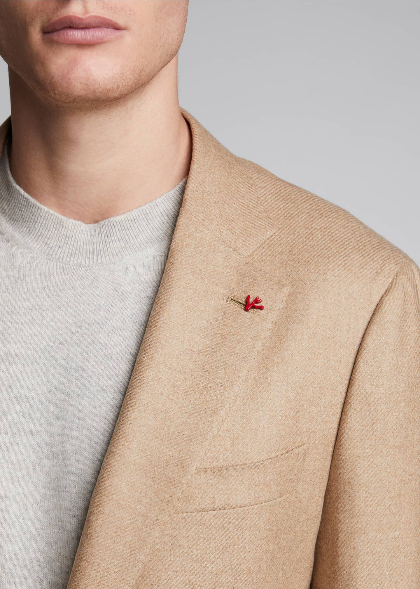 Image 4 of 4: Men's Two-Button Twill Blazer