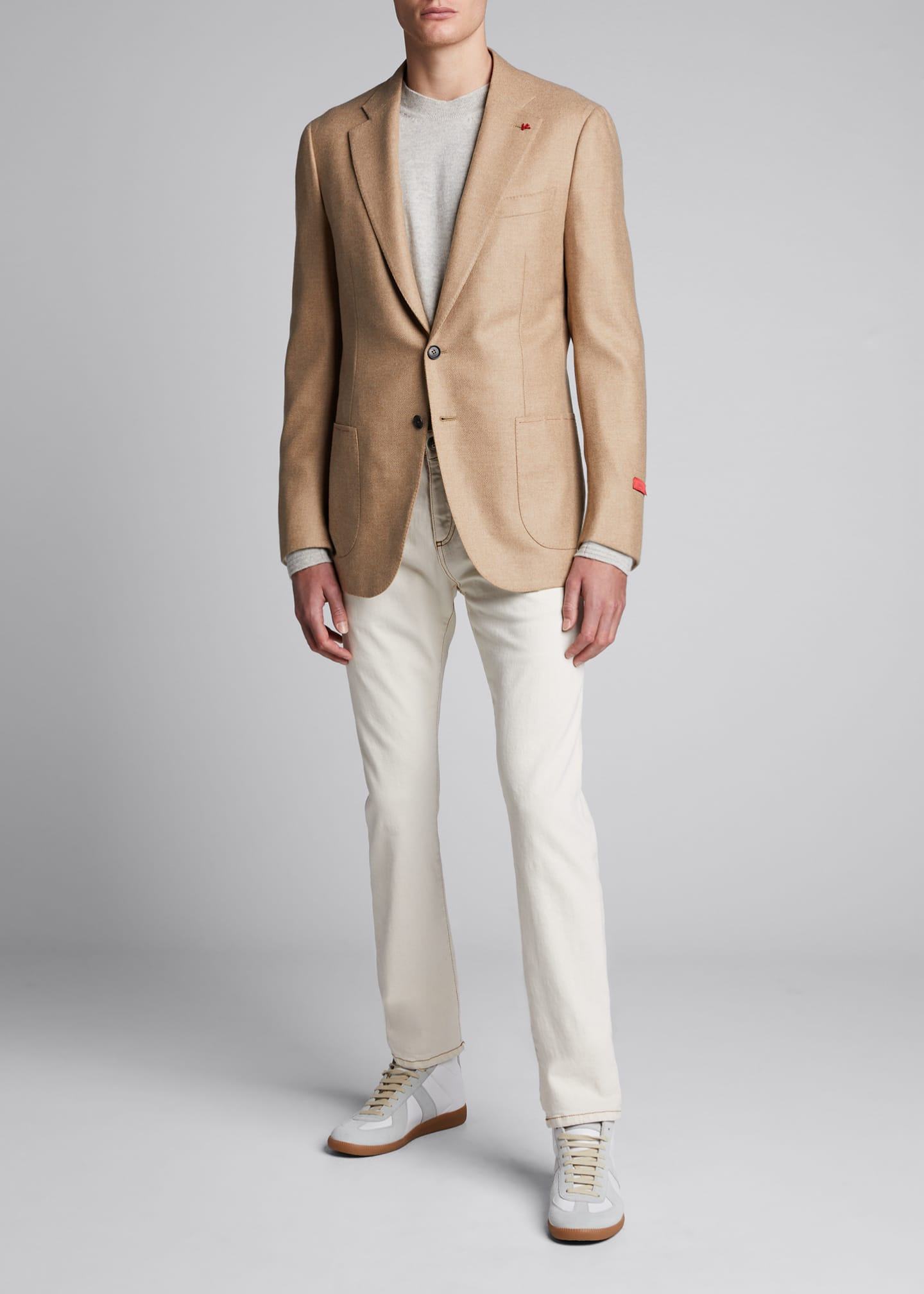 Image 1 of 4: Men's Two-Button Twill Blazer