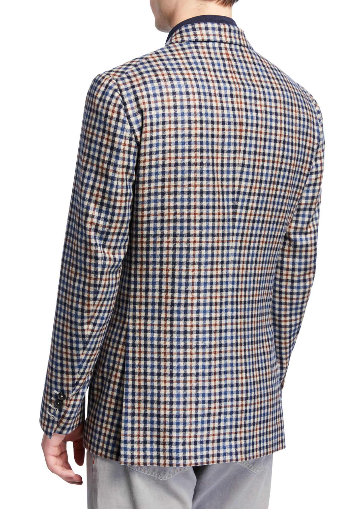 Image 2 of 3: Men's Check Two-Button Jacket