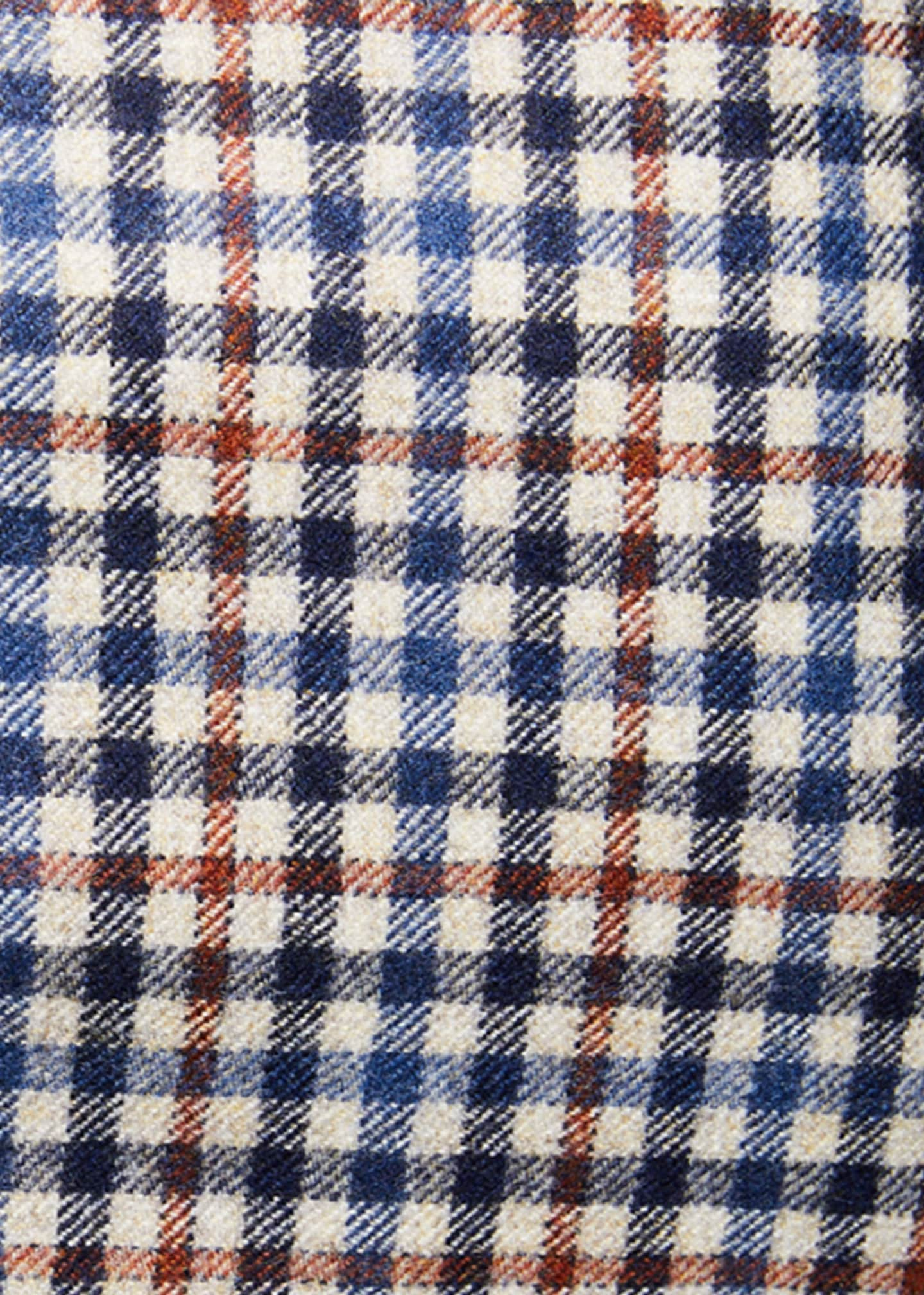 Image 3 of 3: Men's Check Two-Button Jacket