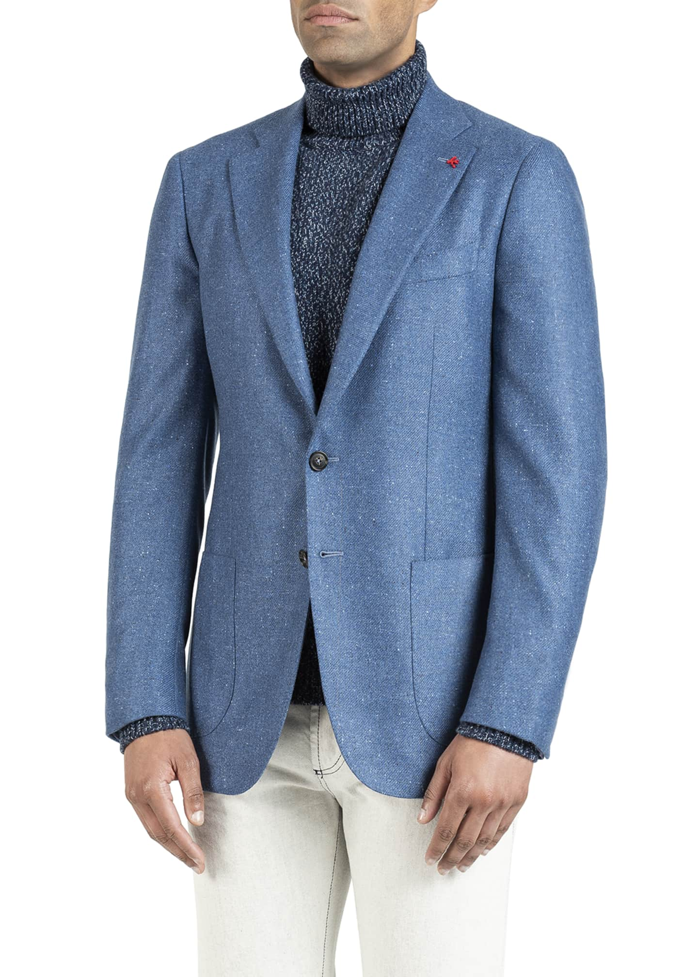 Image 2 of 5: Men's Donegal Cashmere Two-Button Jacket