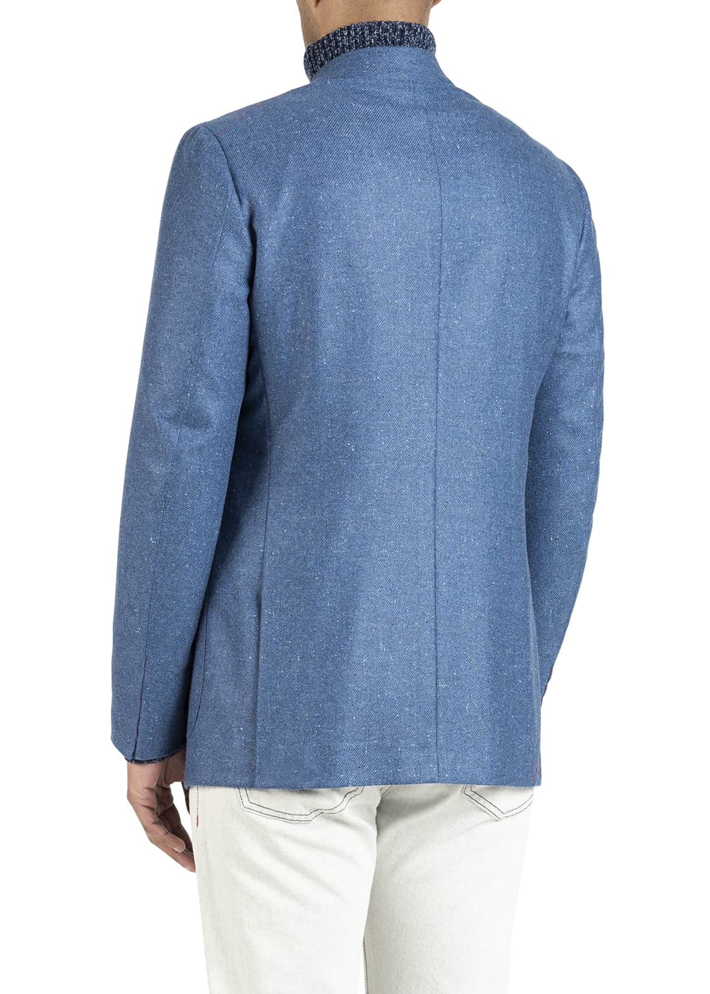 Image 3 of 5: Men's Donegal Cashmere Two-Button Jacket
