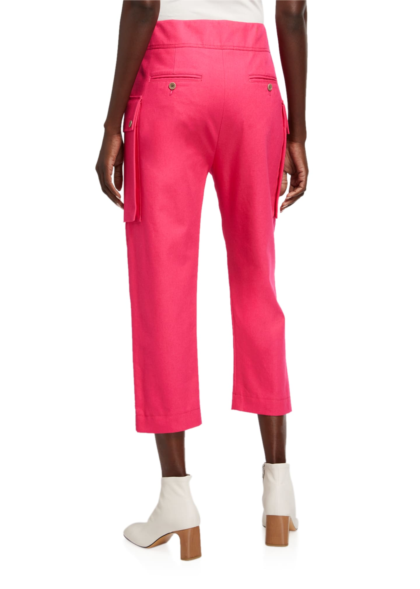 Image 2 of 3: Cotton Cropped Cargo Pants