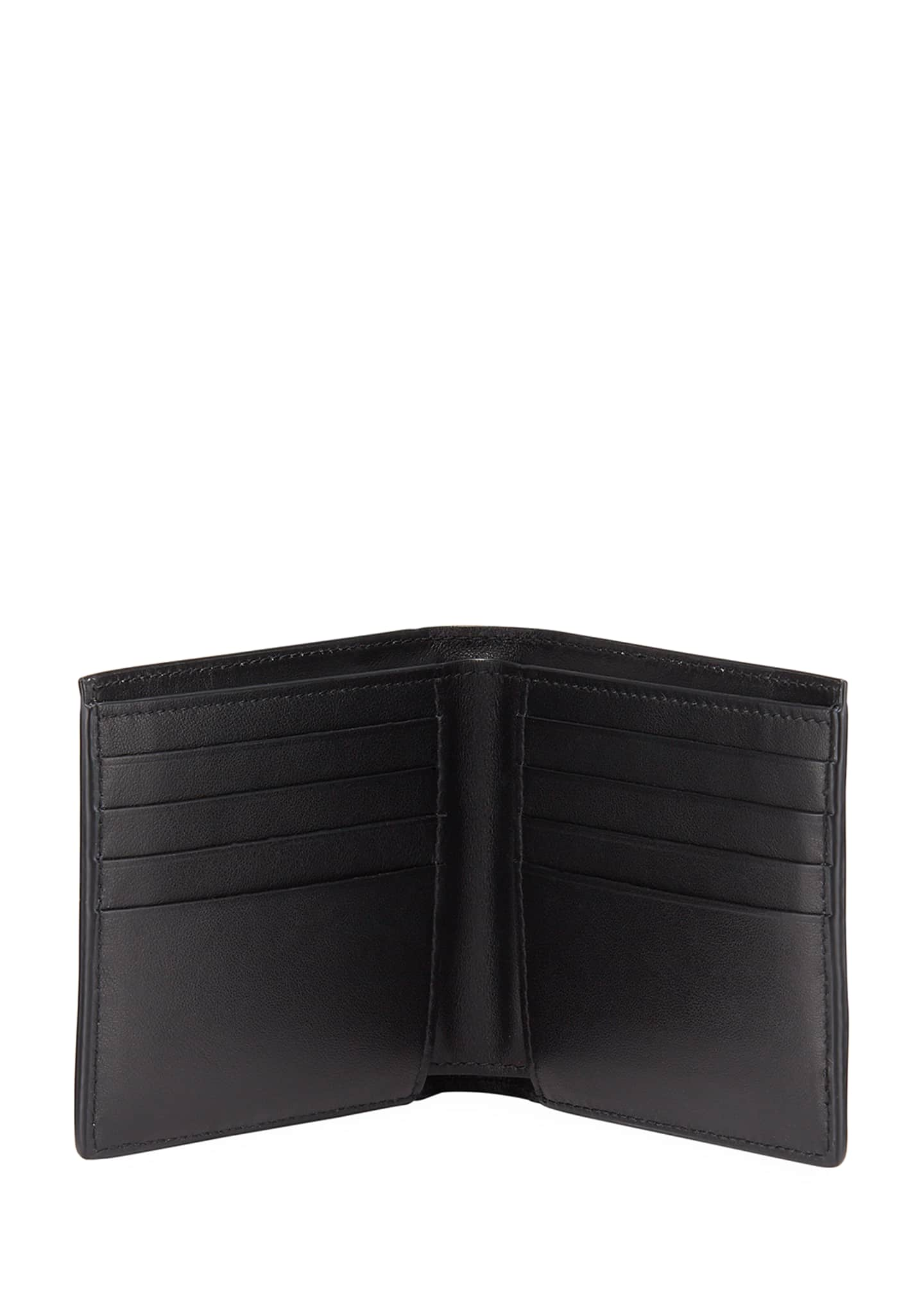 Image 2 of 2: Men's Textured Leather Bifold Wallet