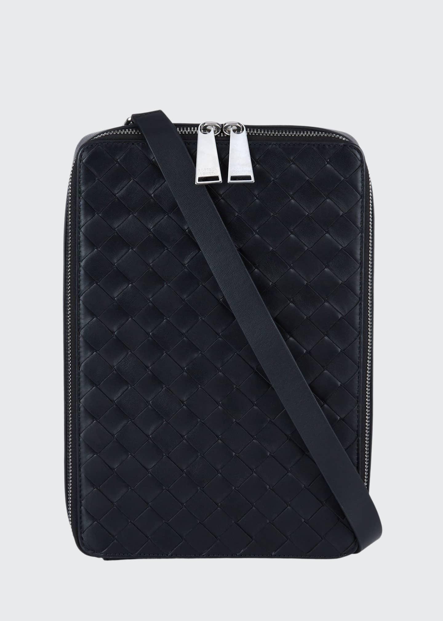 Bottega Veneta Men's Intrecciato Leather Crossbody Wallet