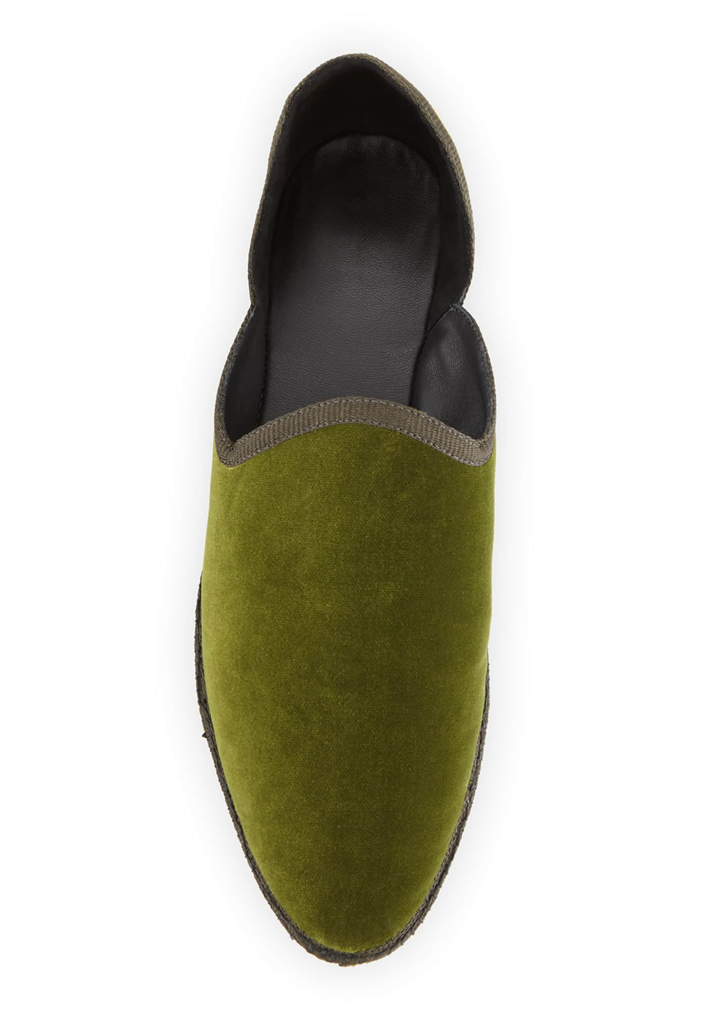 Image 3 of 3: Friulane Soft Velvet Flat Slippers