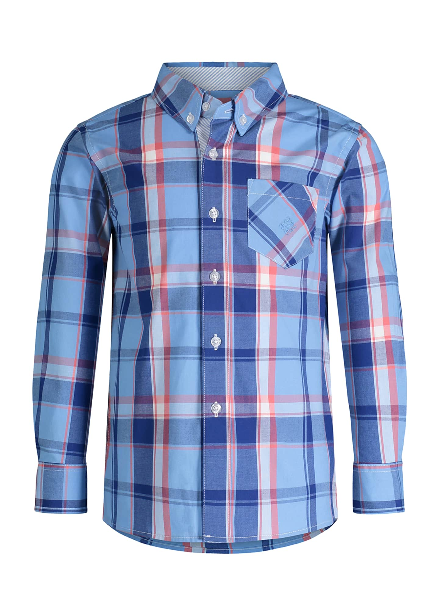 Andy & Evan Tattersall Check Button-Down Shirt, Size