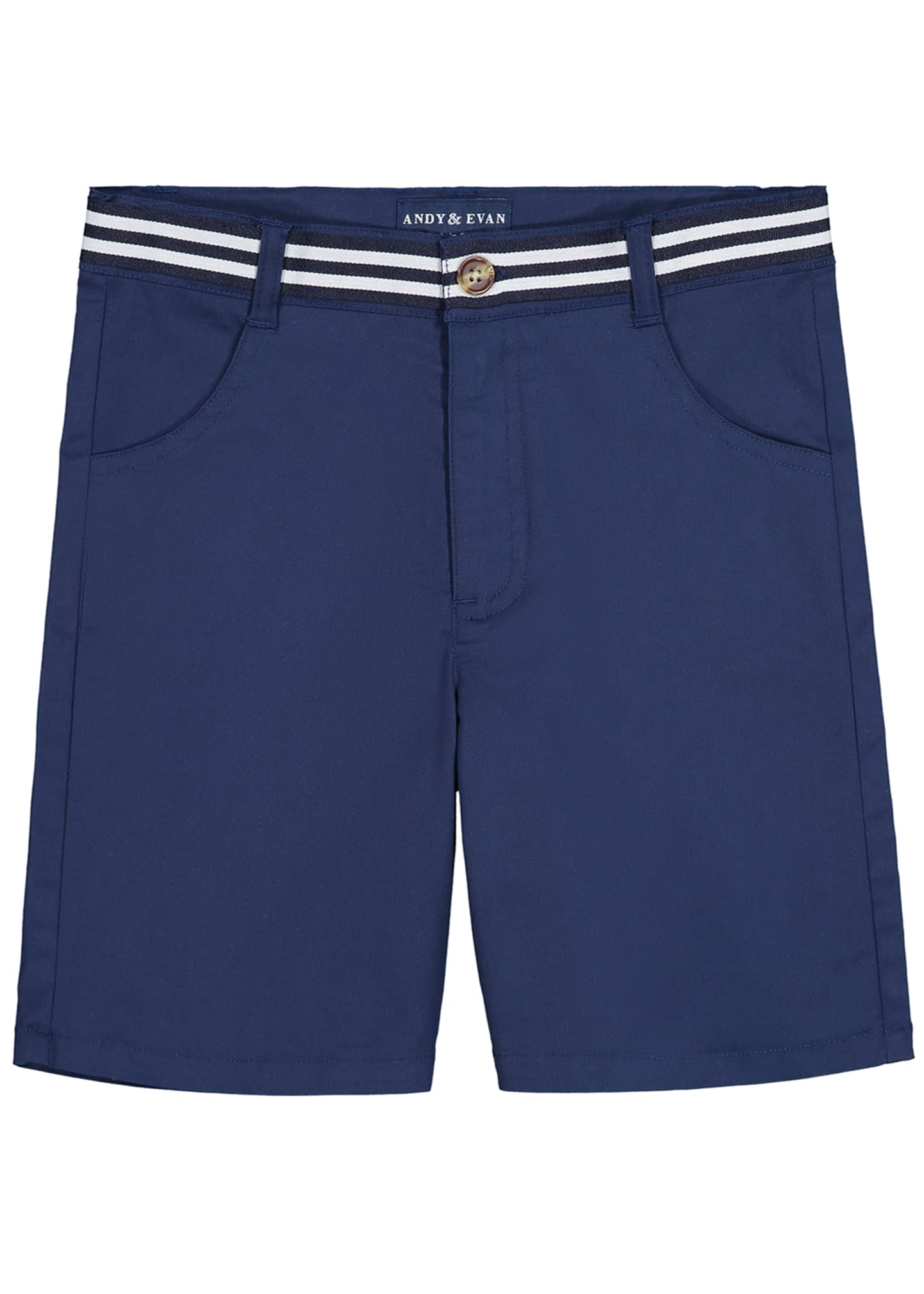 Andy & Evan Mock Belted Twill Shorts, Size