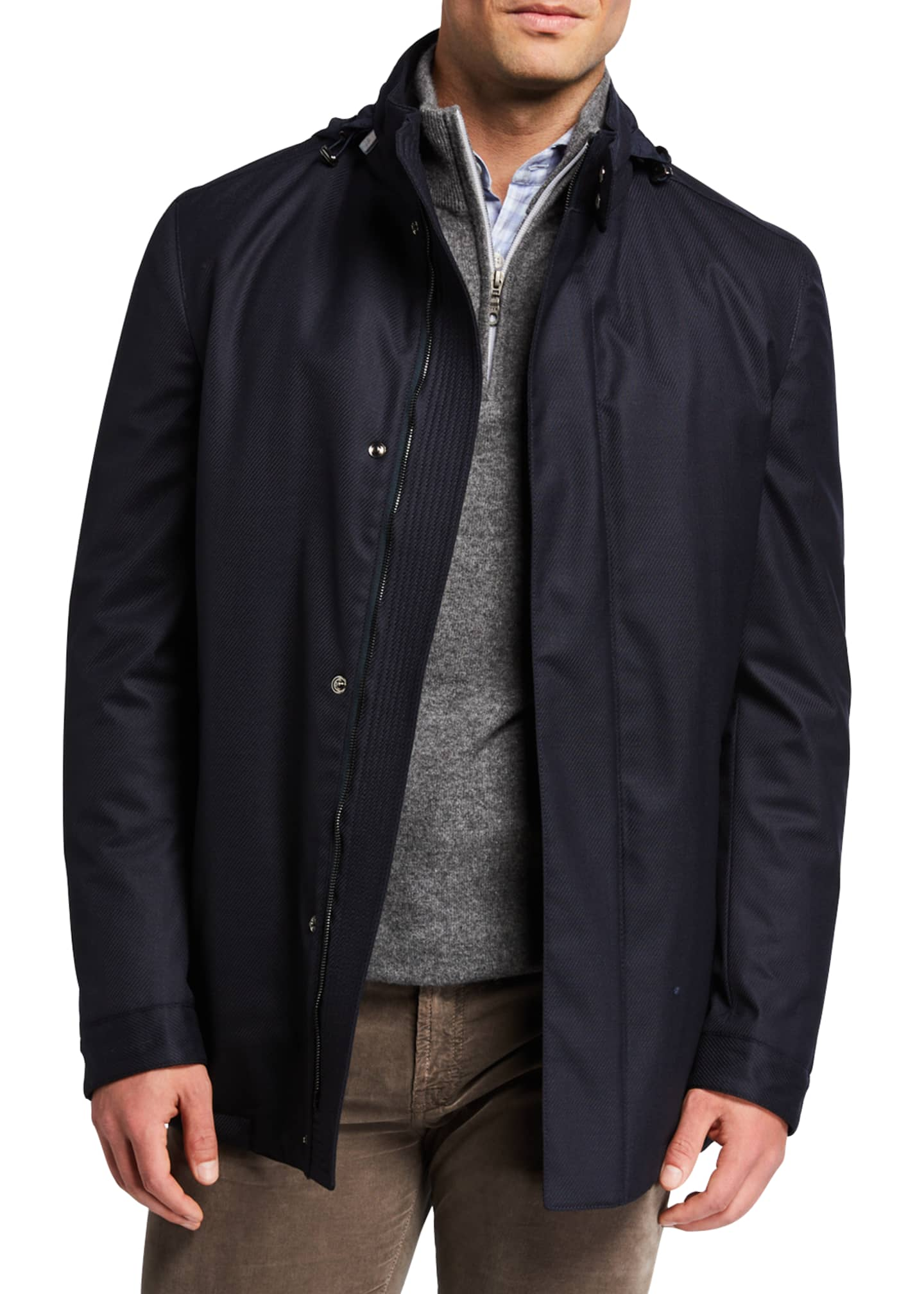 Image 3 of 4: Men's Technical Twill Car Coat