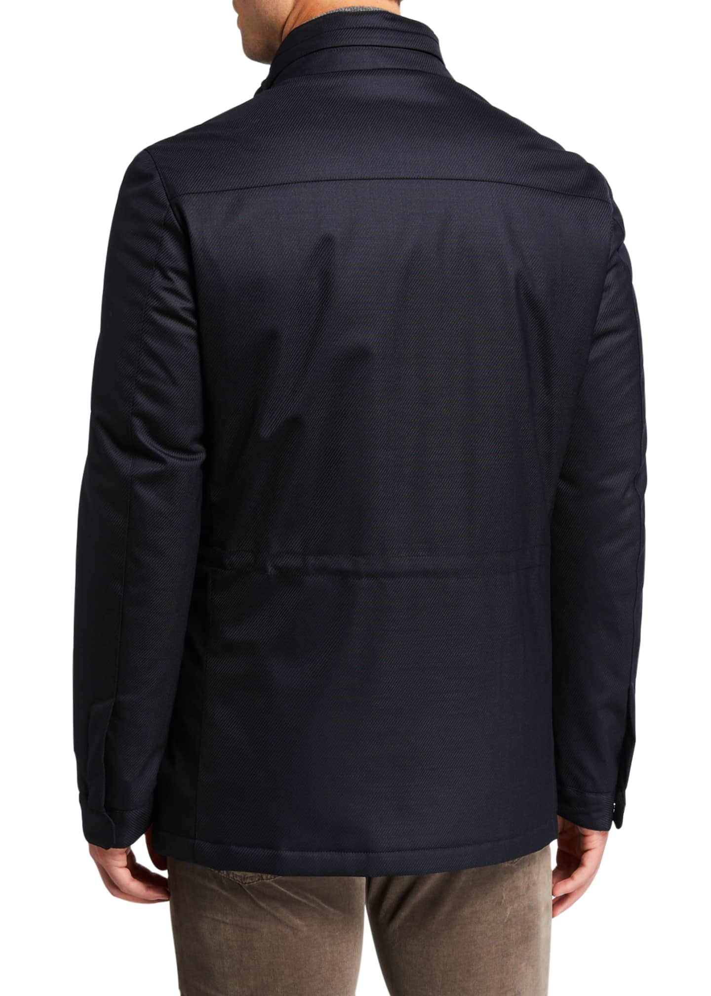 Image 4 of 4: Men's Technical Twill Car Coat
