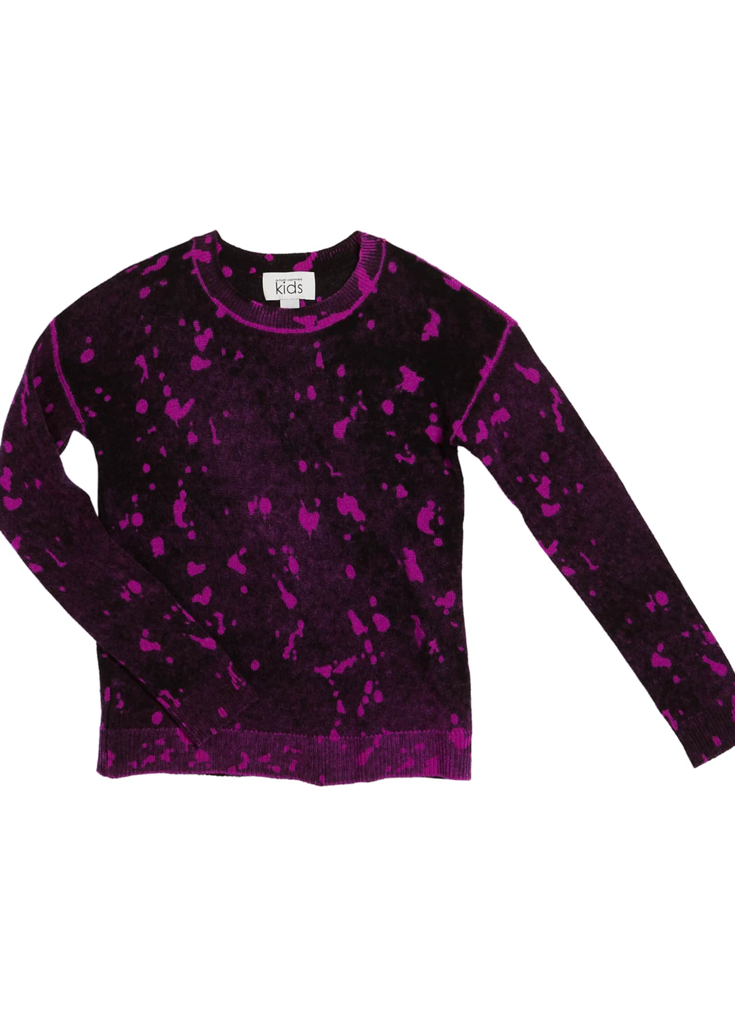 Autumn Cashmere Inked Splatter Paint Sweater, Size 8-16