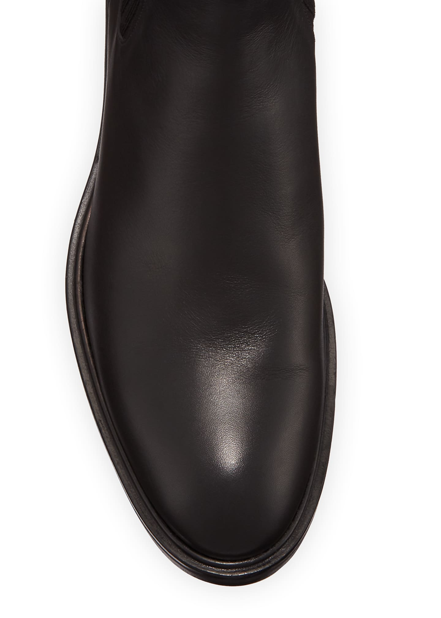 Image 3 of 5: Auckland Leather Chelsea Booties